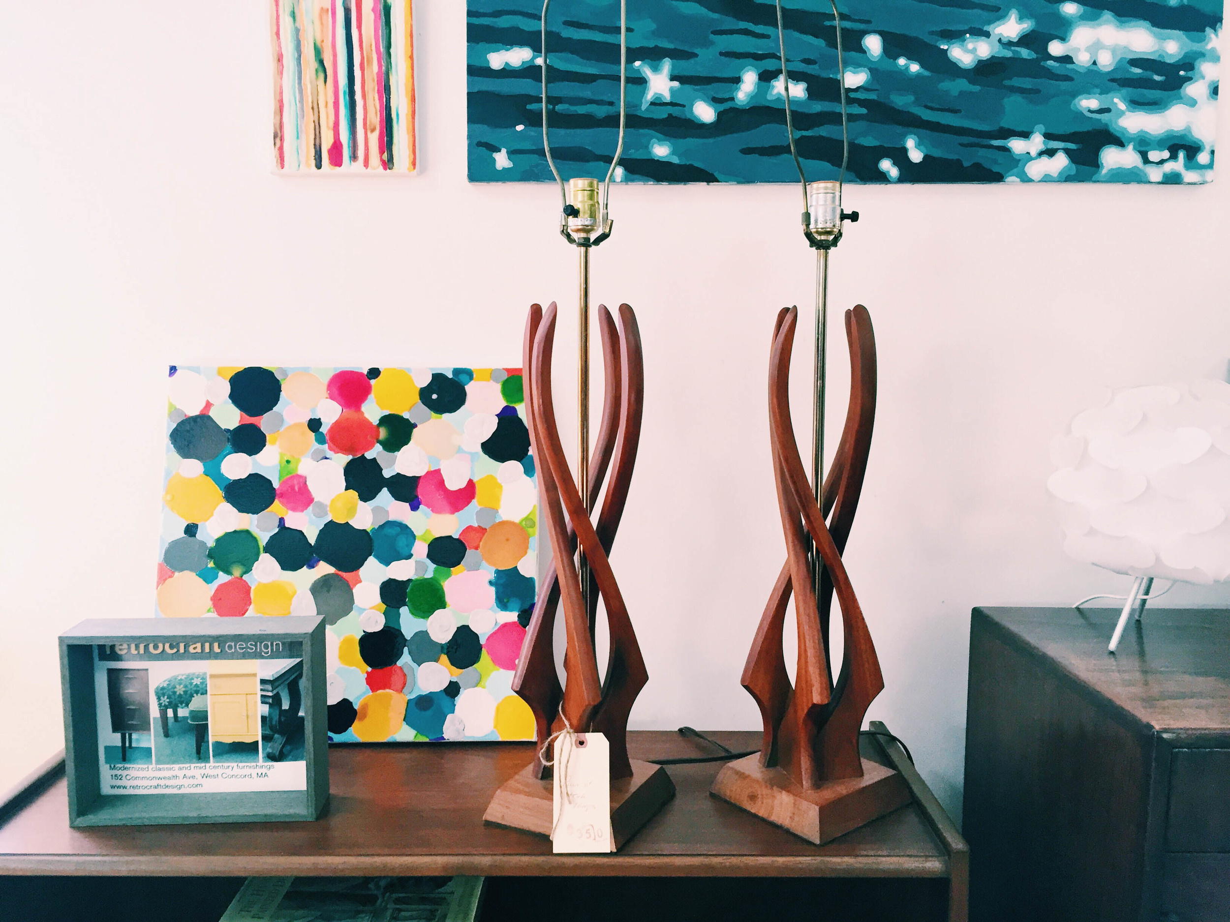 {Some cool table lamps spotted at  Retrocraft Design }