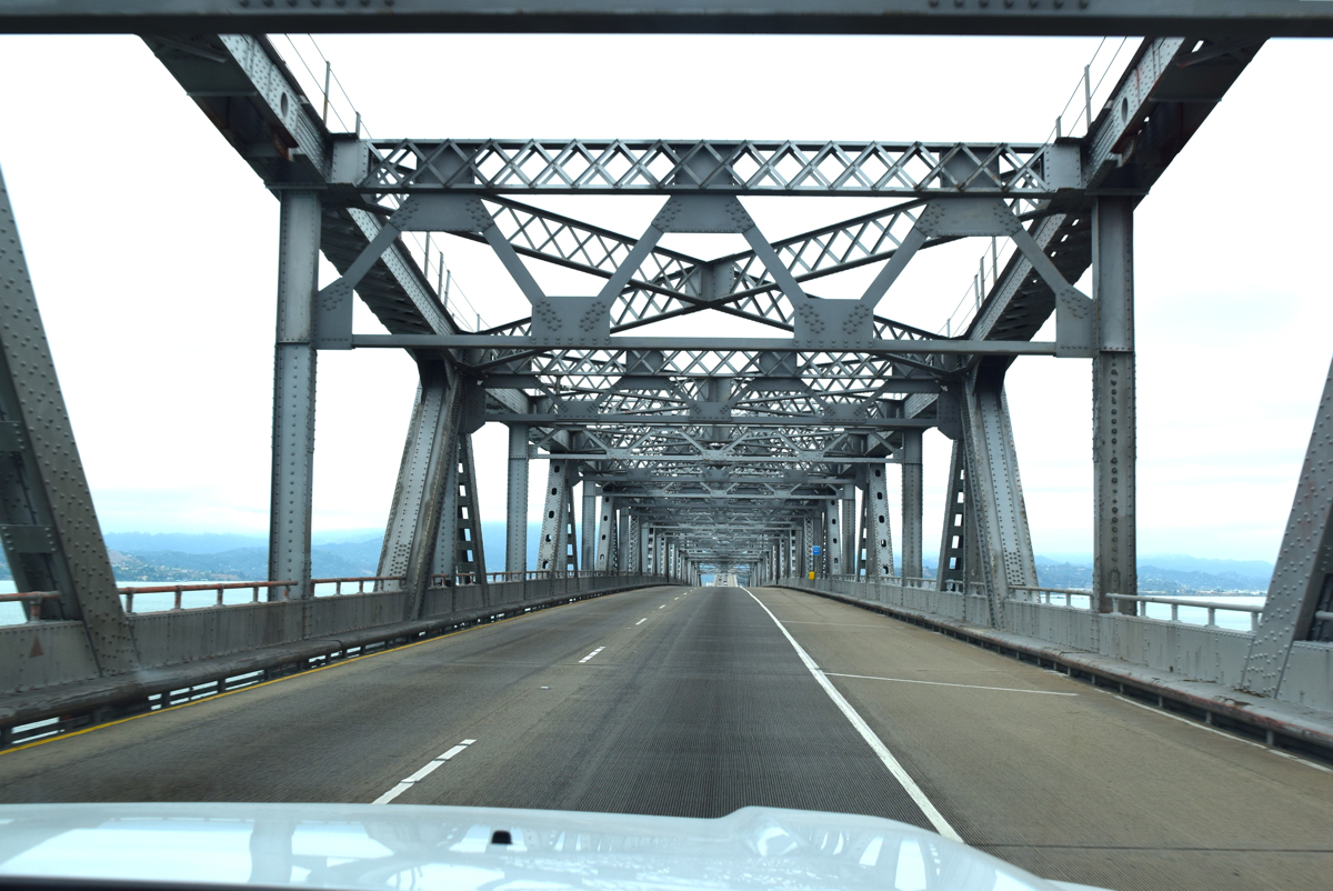 Driving over the Oakland Bay Bridge. Only $5!