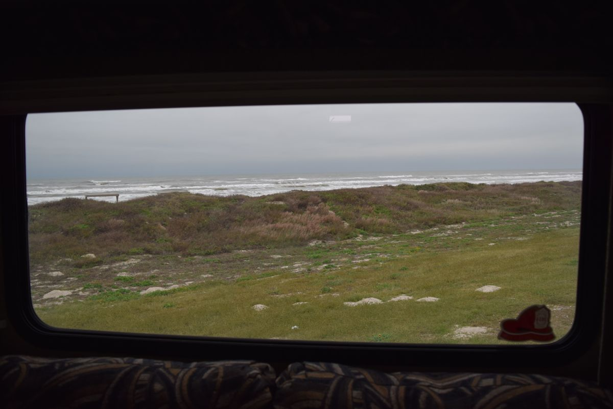 The view from the back window. Not bad for $8.00 a night!