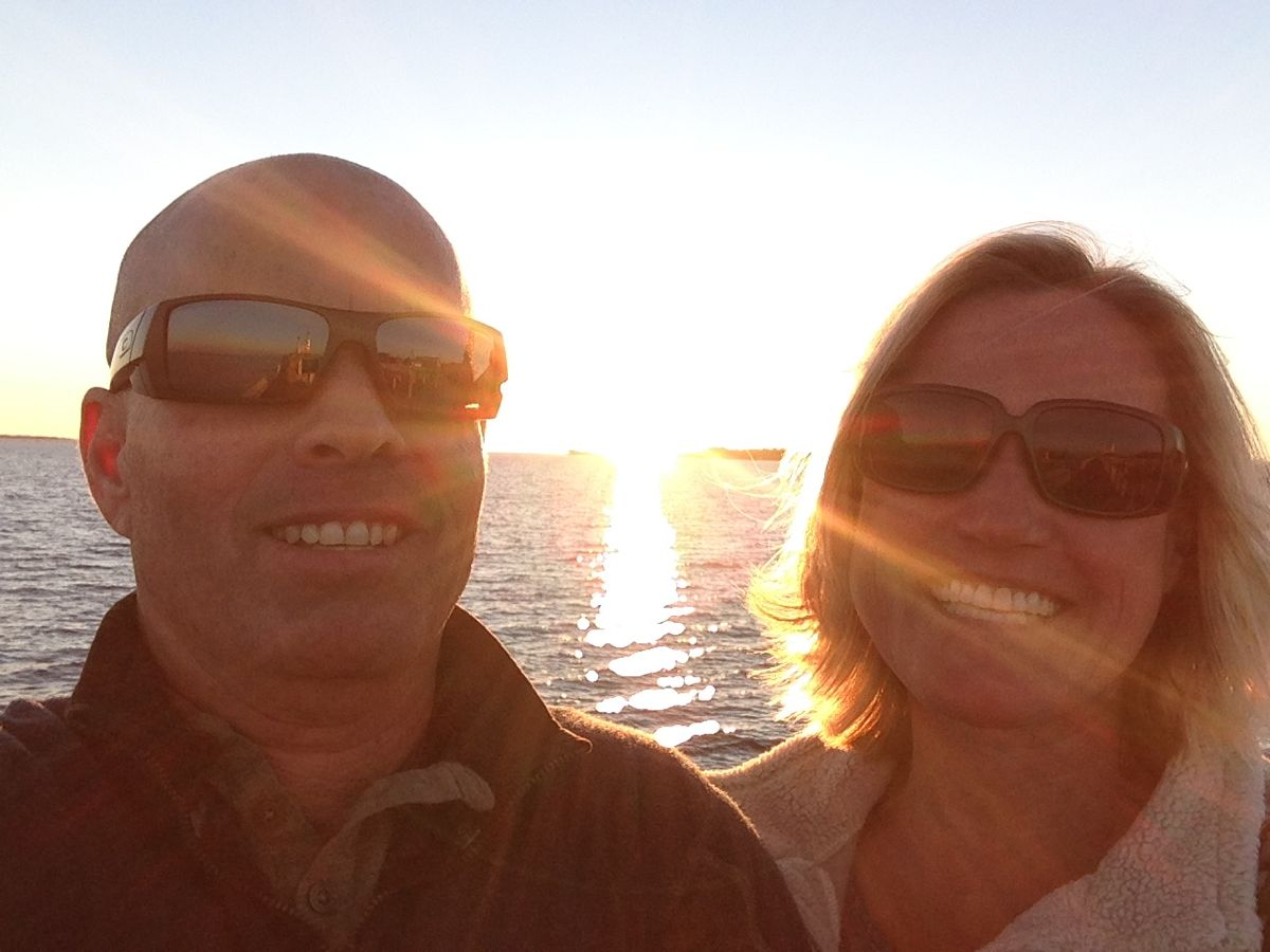 Sunset selfie on Cedar Key.