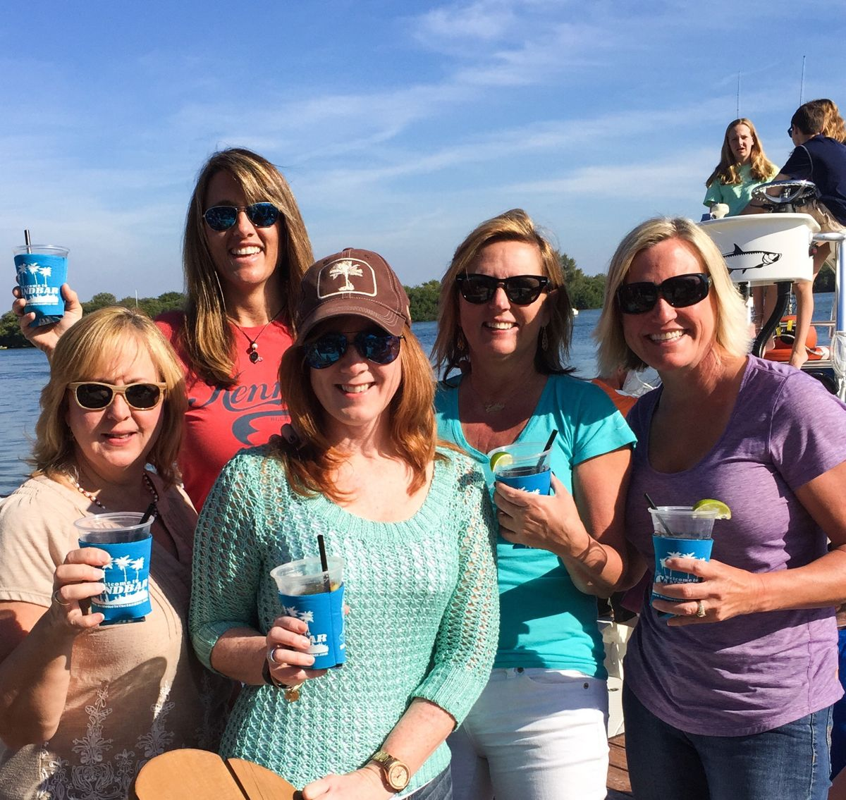 Left to right, Shari, Connie, Michelle, Kathy and me.