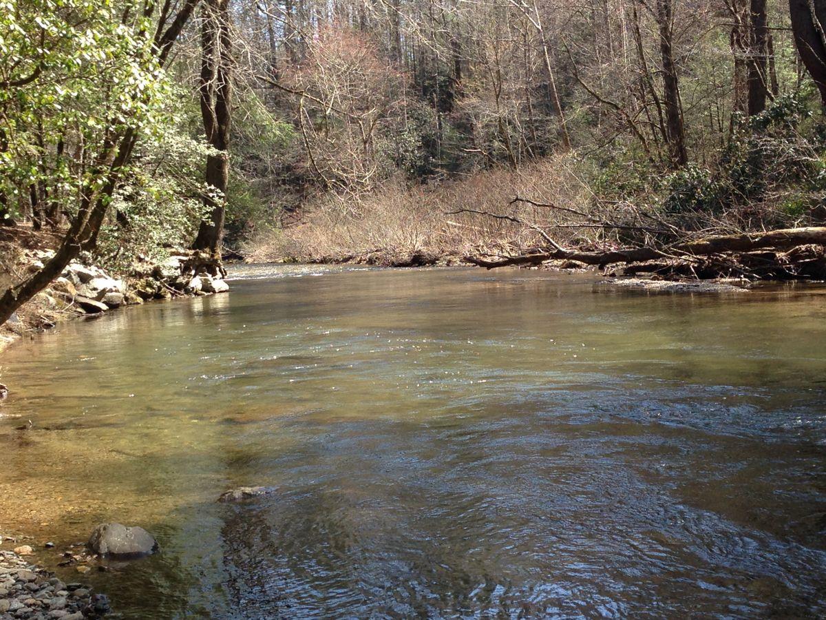 The Tallulah River, so peaceful.