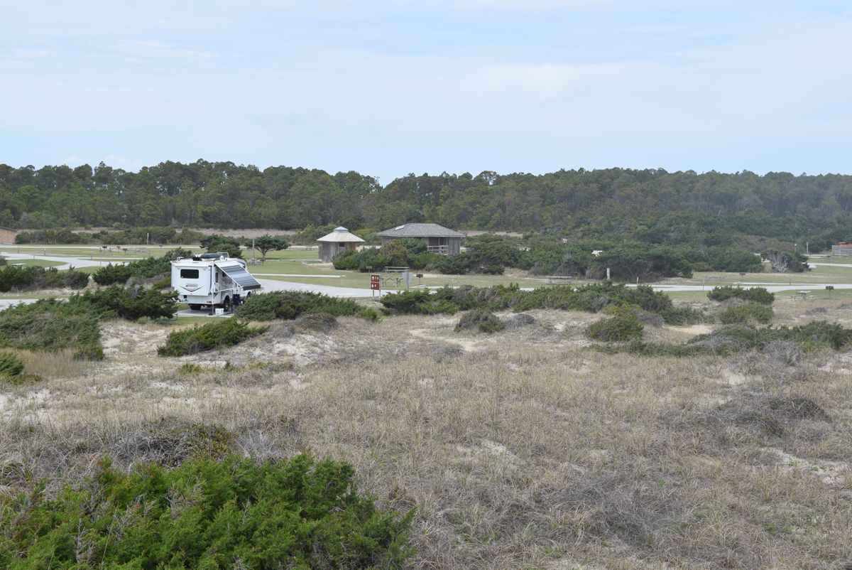From the dune, looking towards camp.