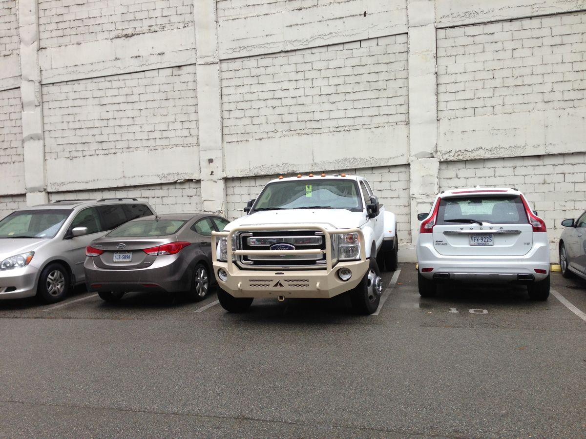 Driving and parking in downtown Richmond in this beast isn't easy! I was proud of this parking job!