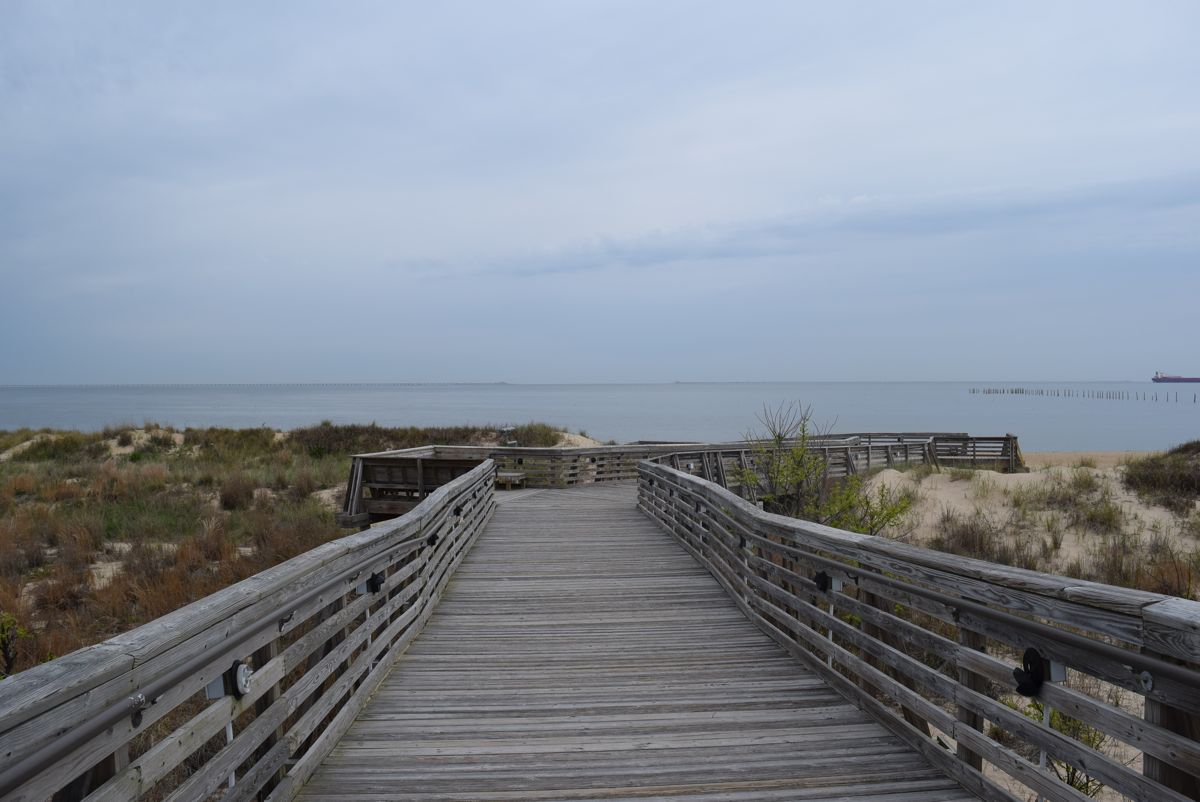 The boardwalk from our site to the beach.
