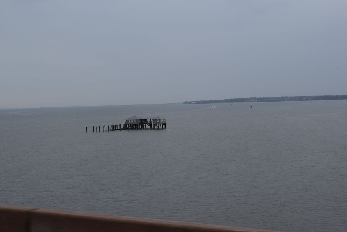 A little house on one of the many waterways on the coast of Virginia,