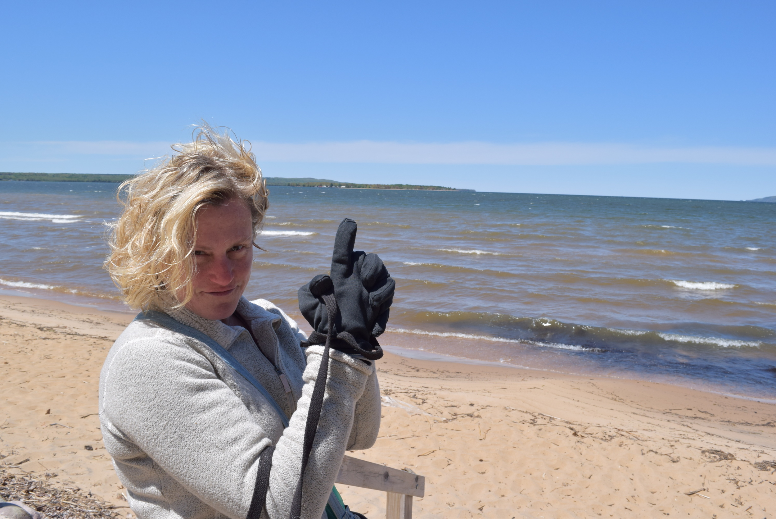 That's Canada across the water. Not for this girl who packs heat!