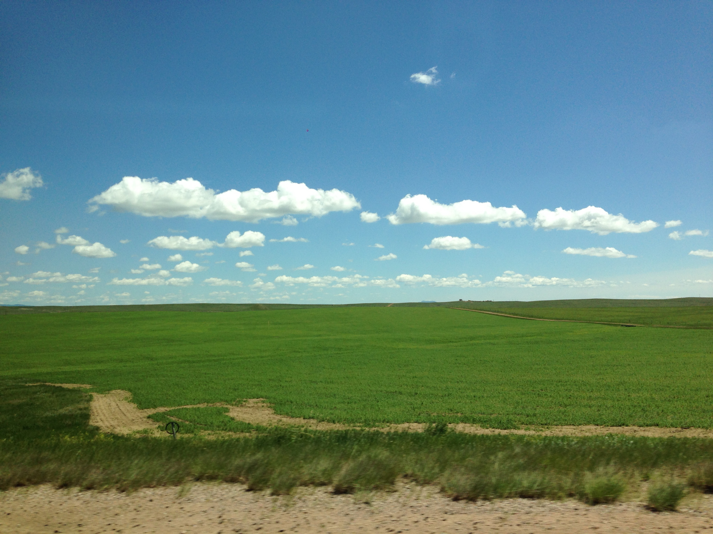 No filter. It looks fake, but that's exactly how it looked. Leaving South Dakota on the second day of summer.