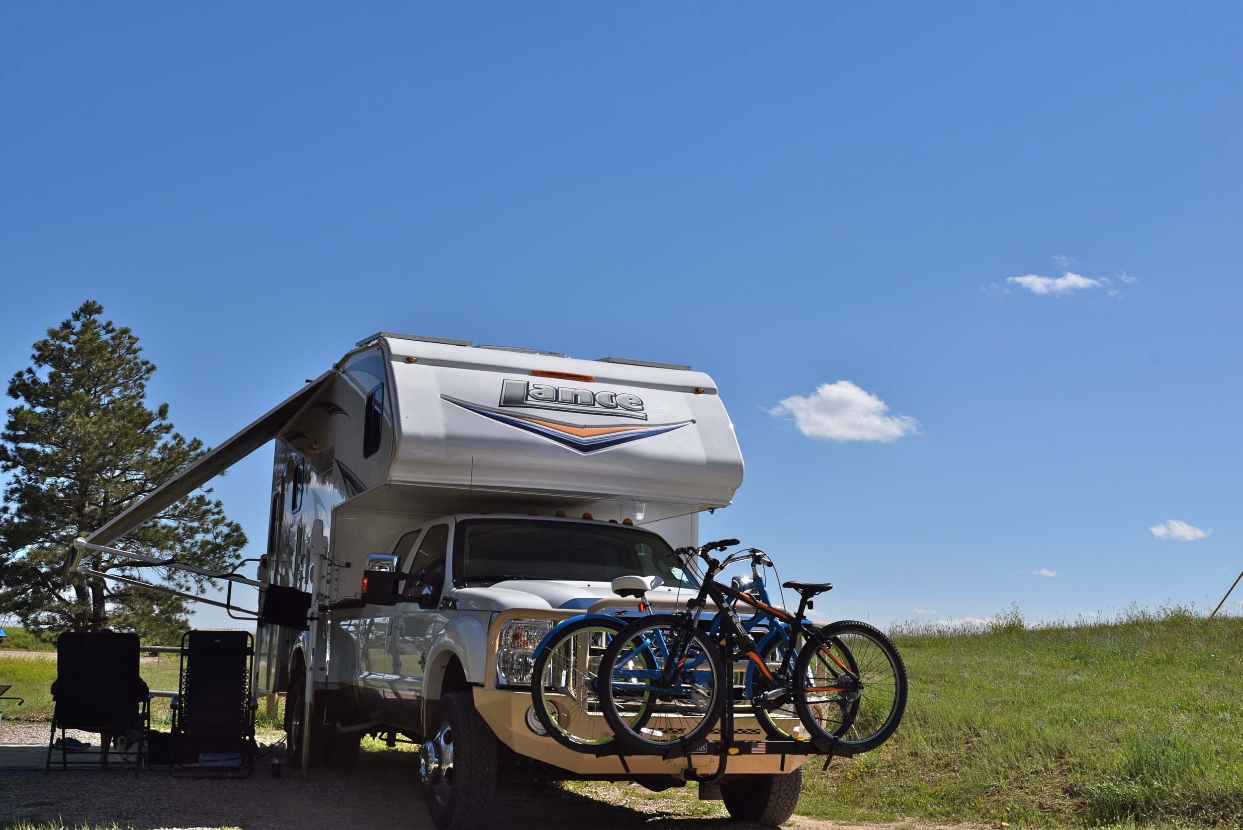 Little camper on the prairie. NE Wyoming.