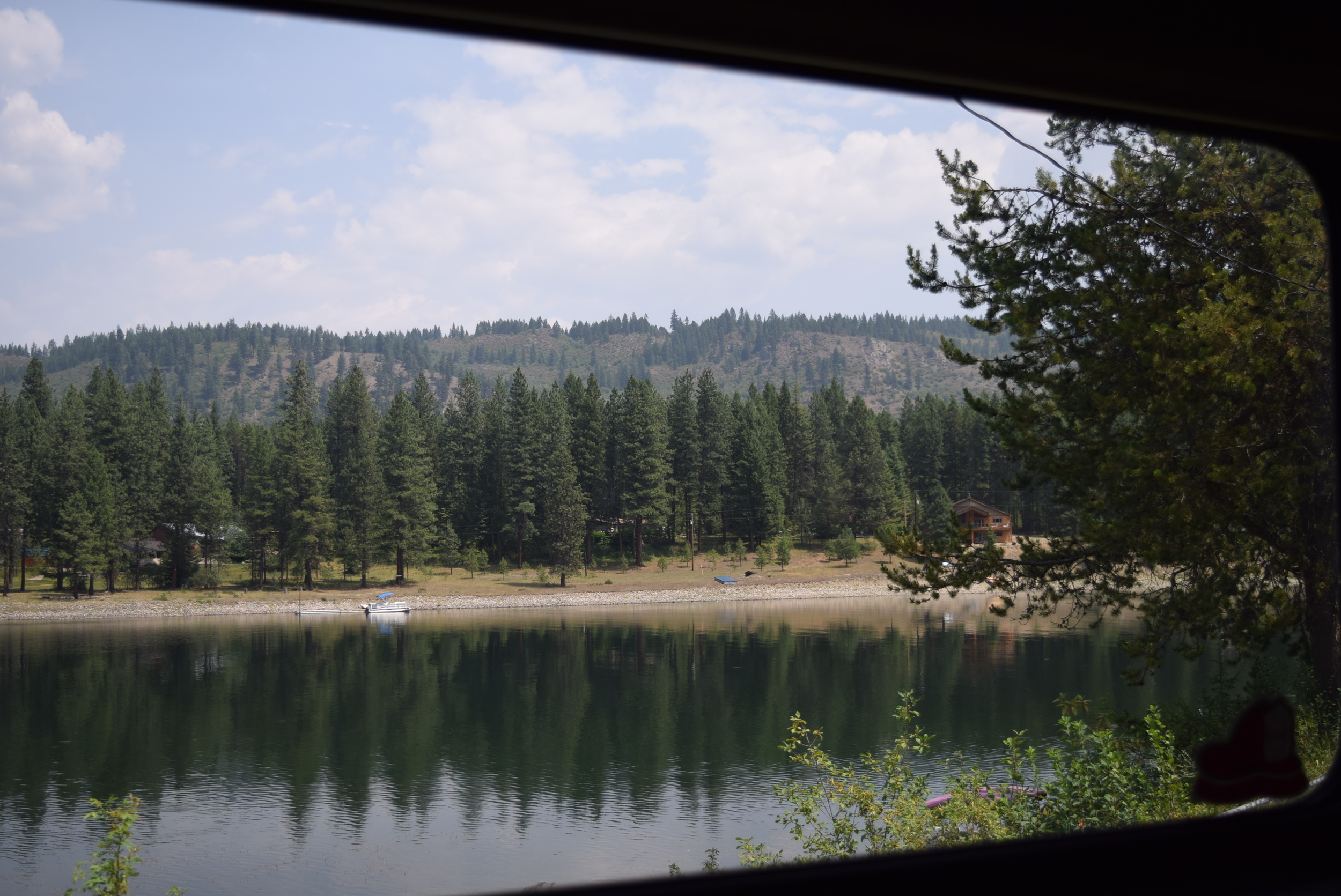 The view from the back window. Pend Oreille River.