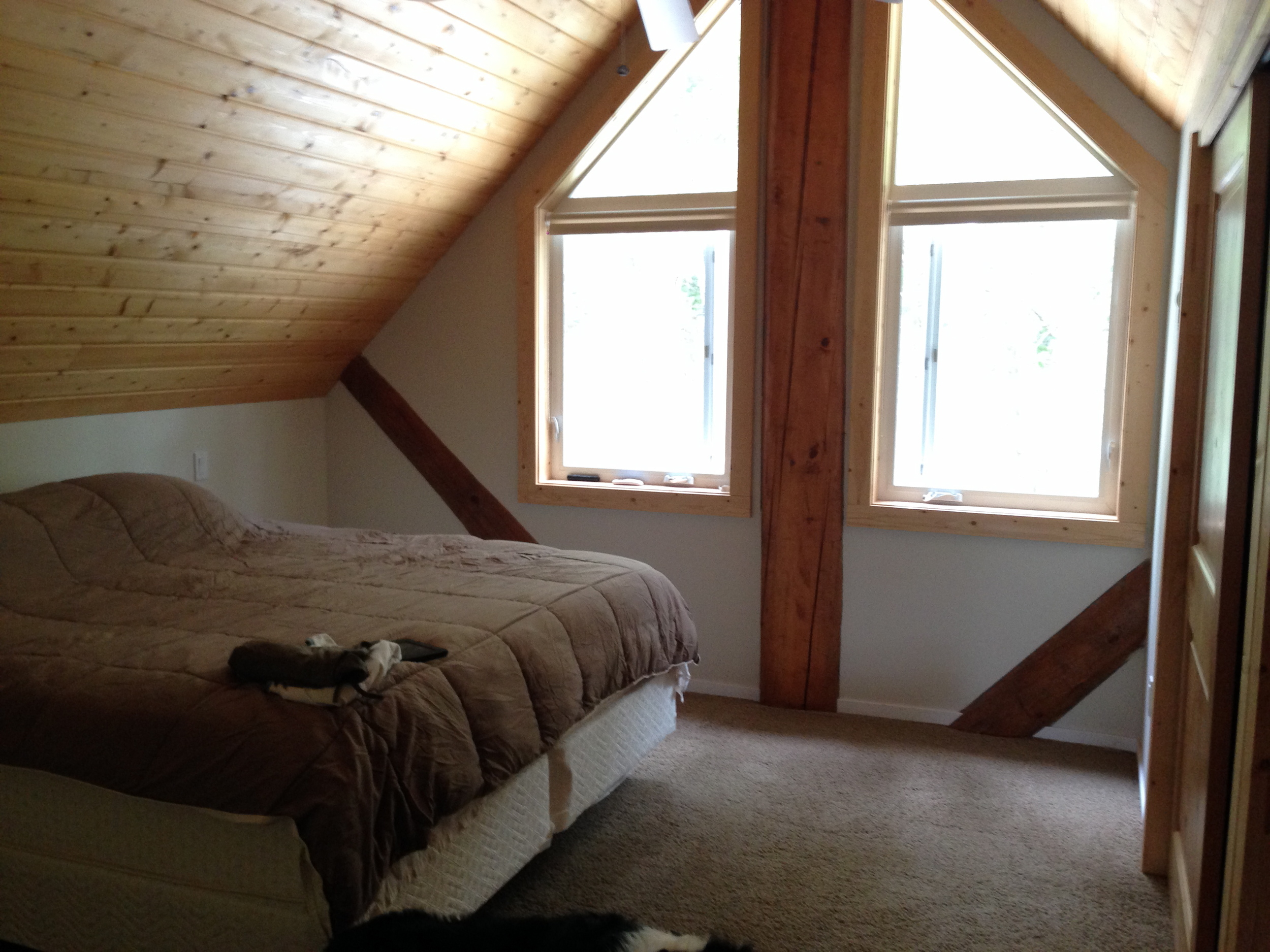 The master bedroom. The seller left a new king size bed in here, and a queen in the guest room.