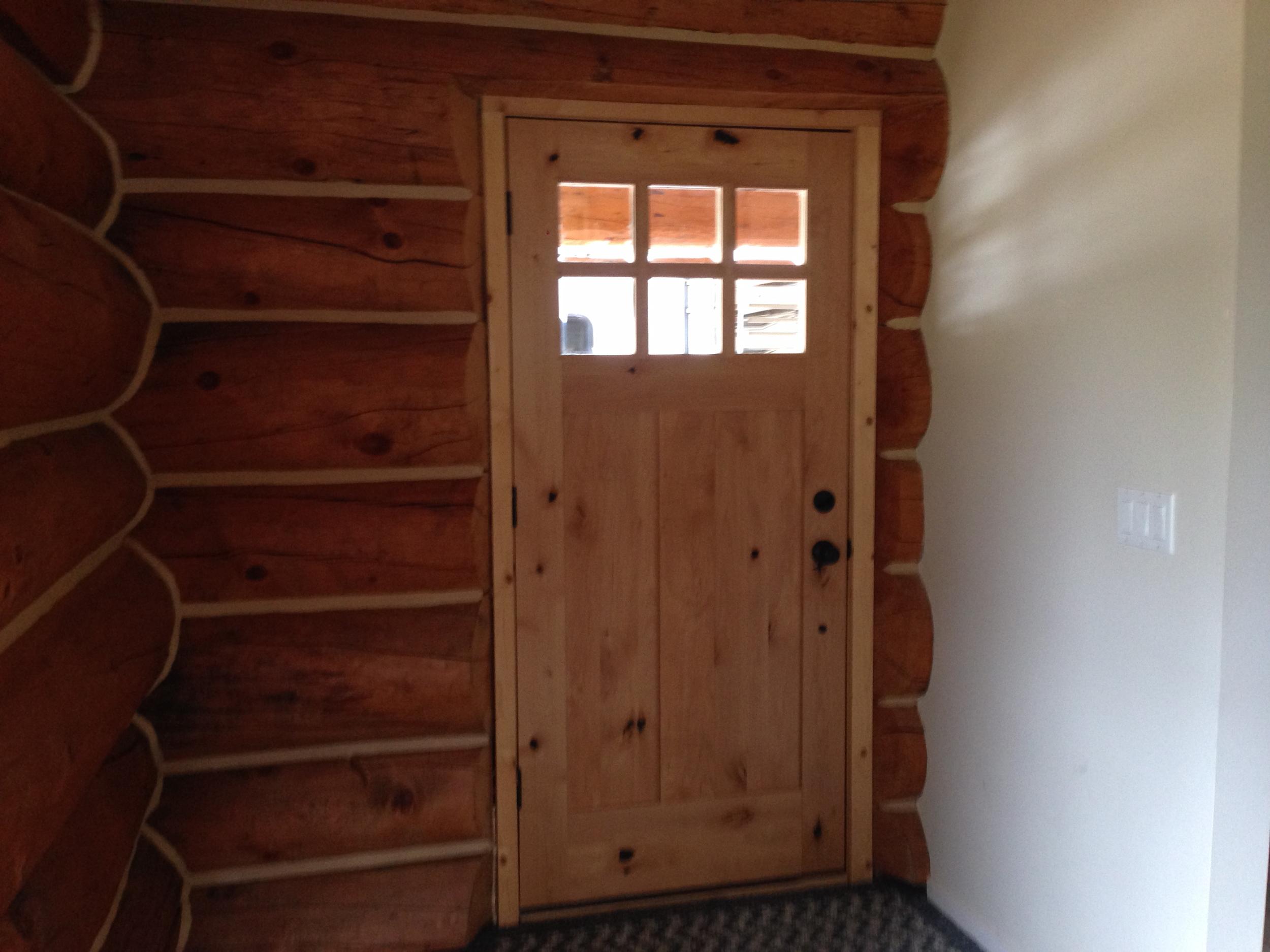 The inside of the front door.