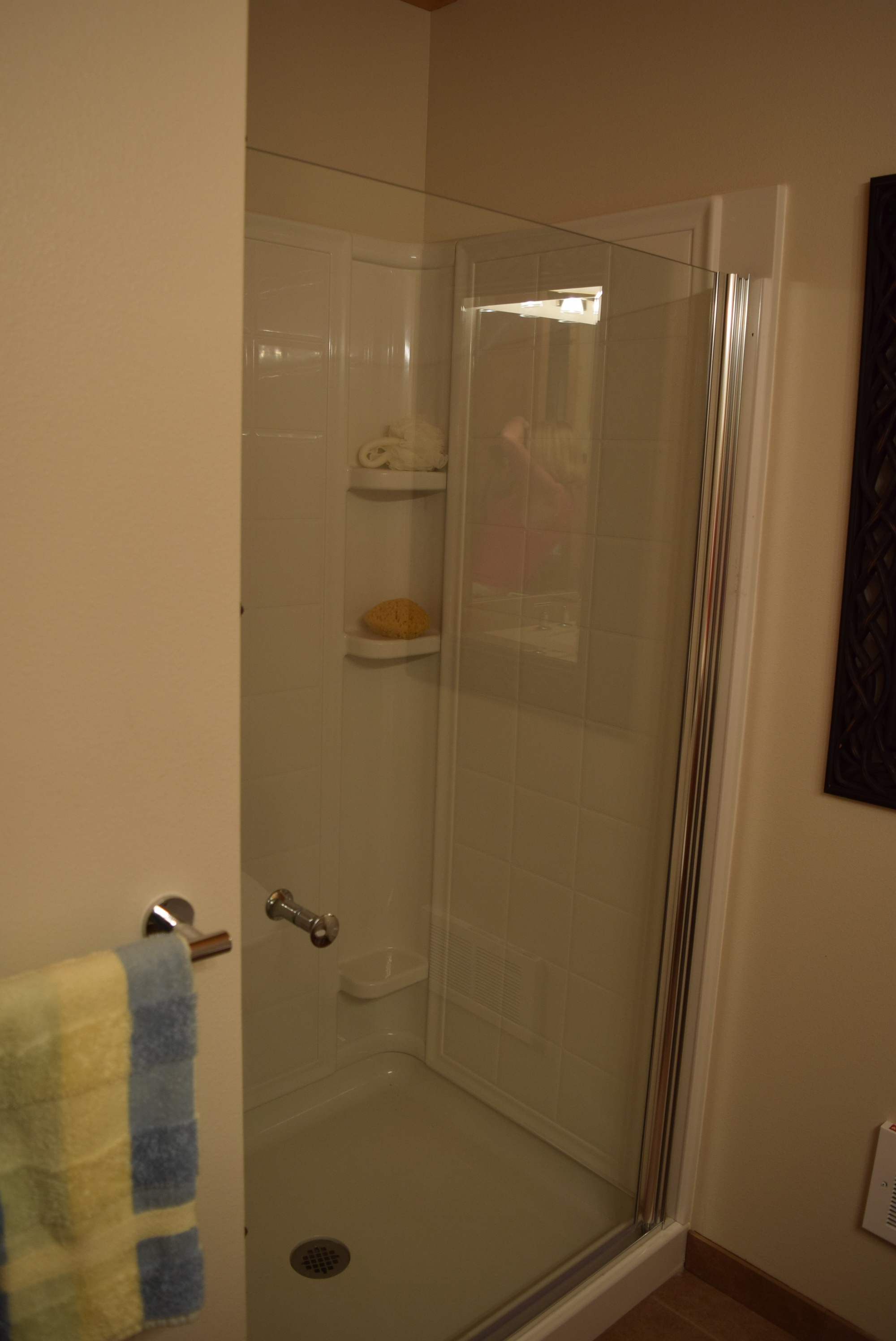 Downstairs shower.
