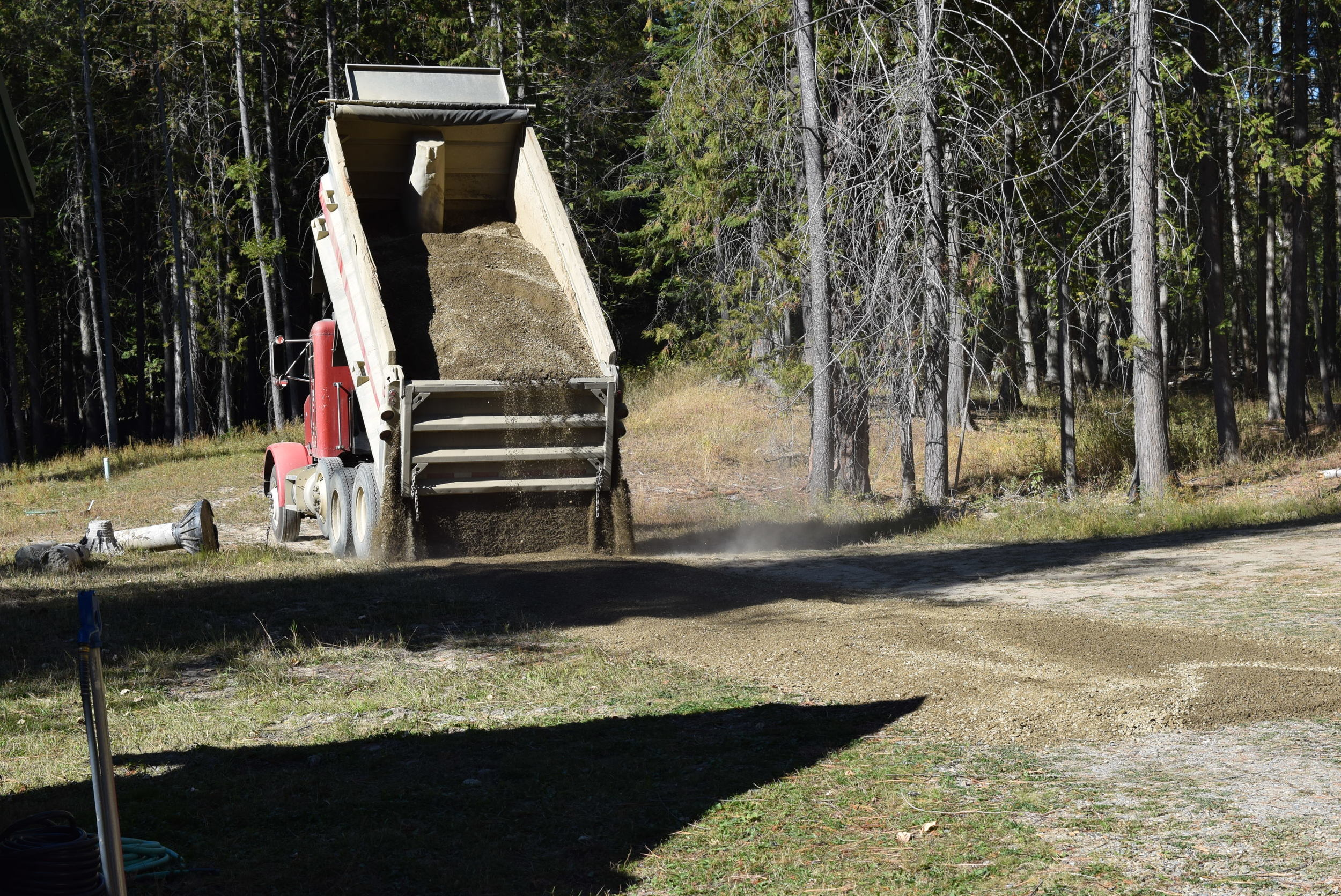 Having some gravel added to the driveway.