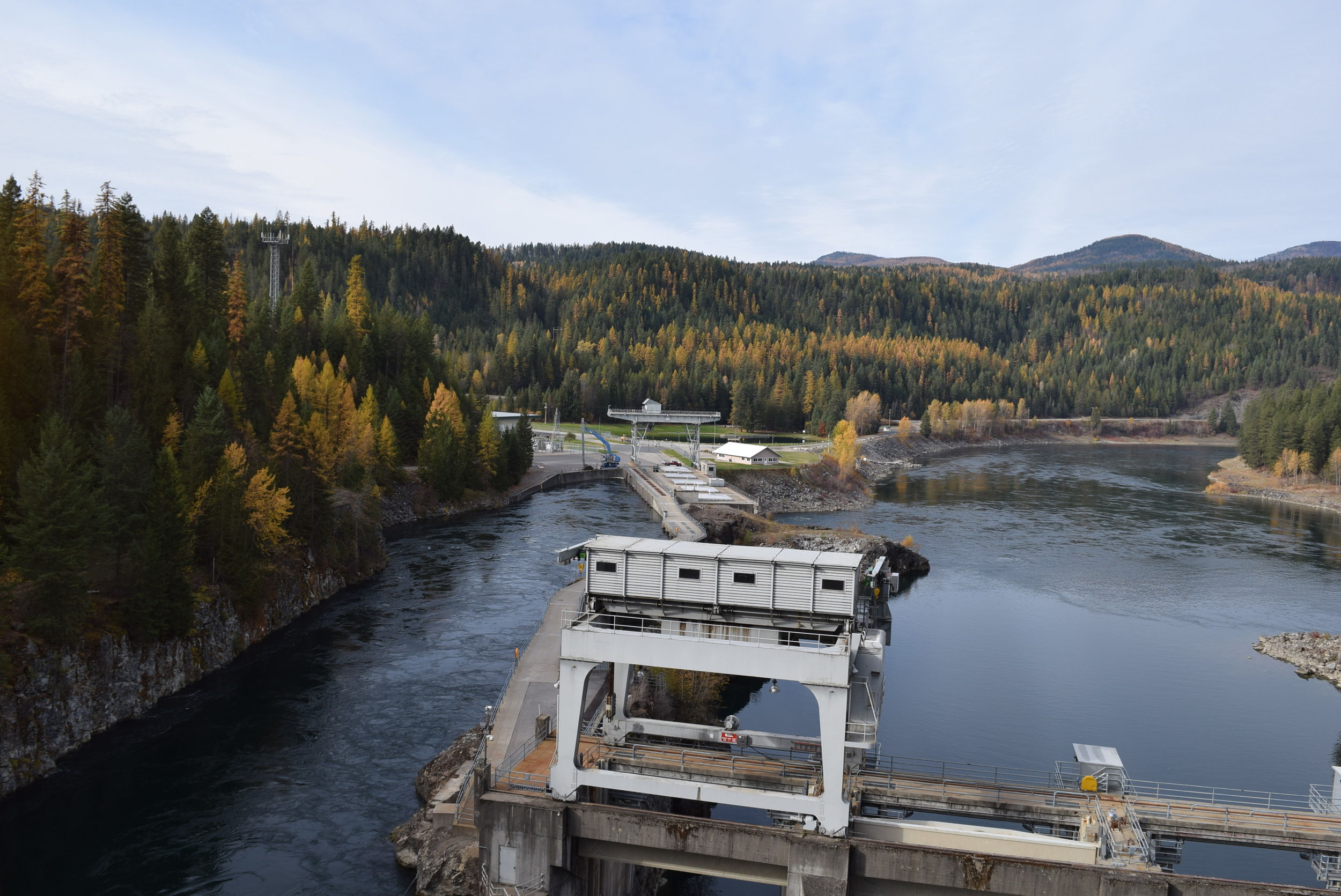 The Box Canyon Dam on the Pend Oreille River.