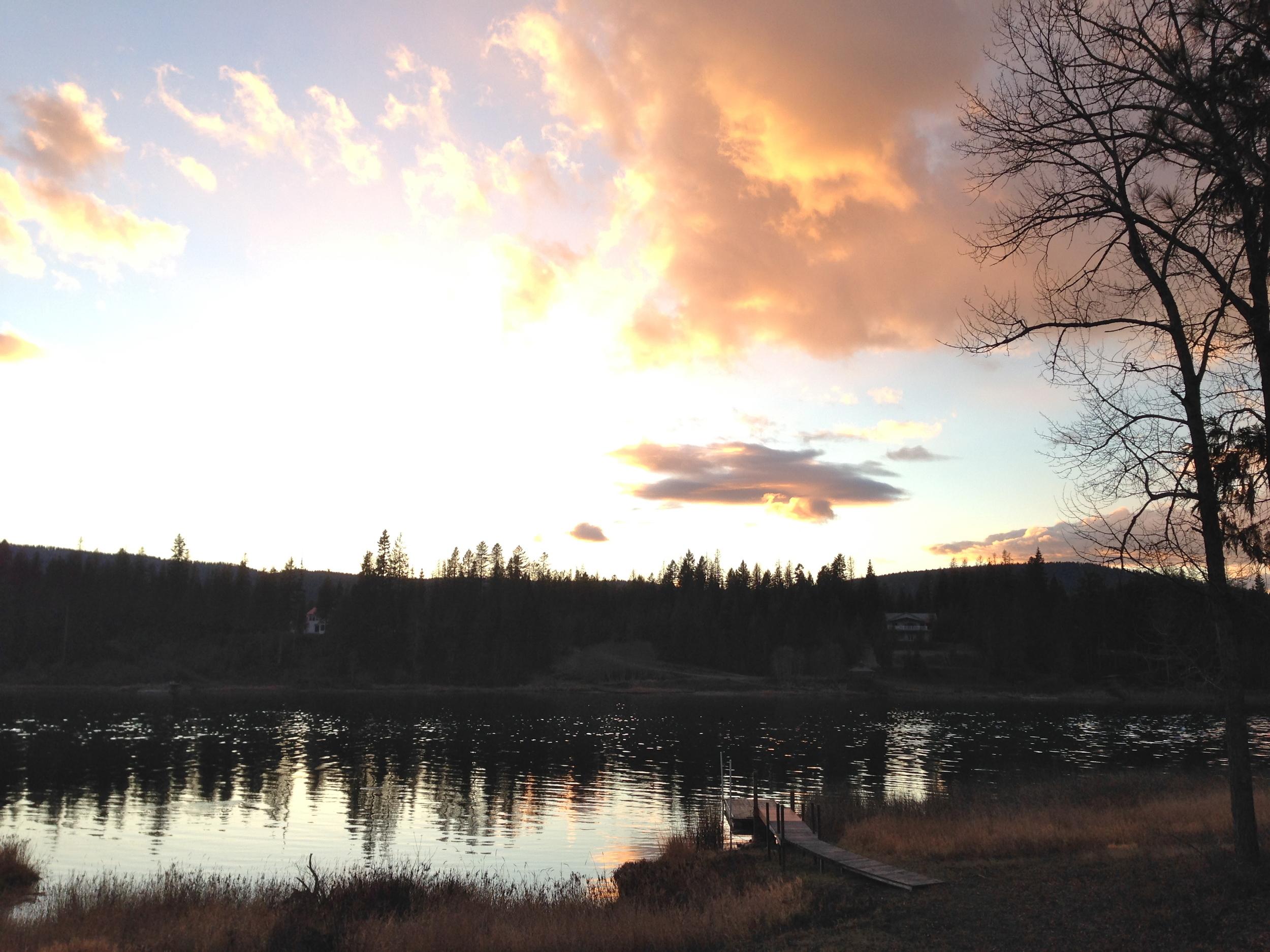 Beautiful clouds, or a UFO.