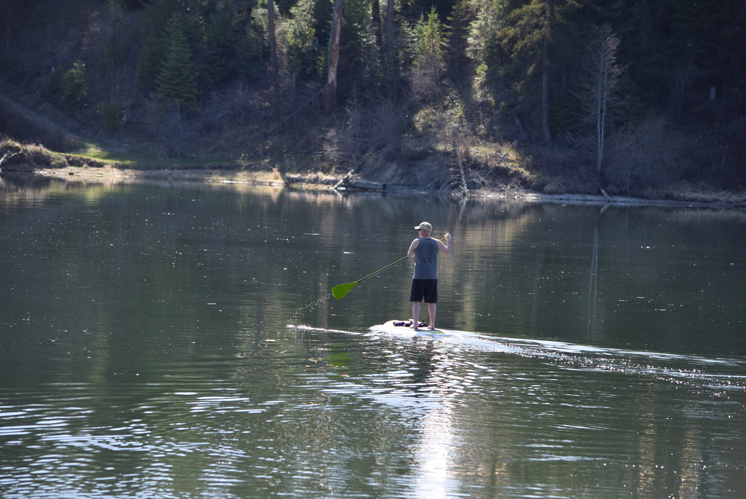 Paul paddling out.