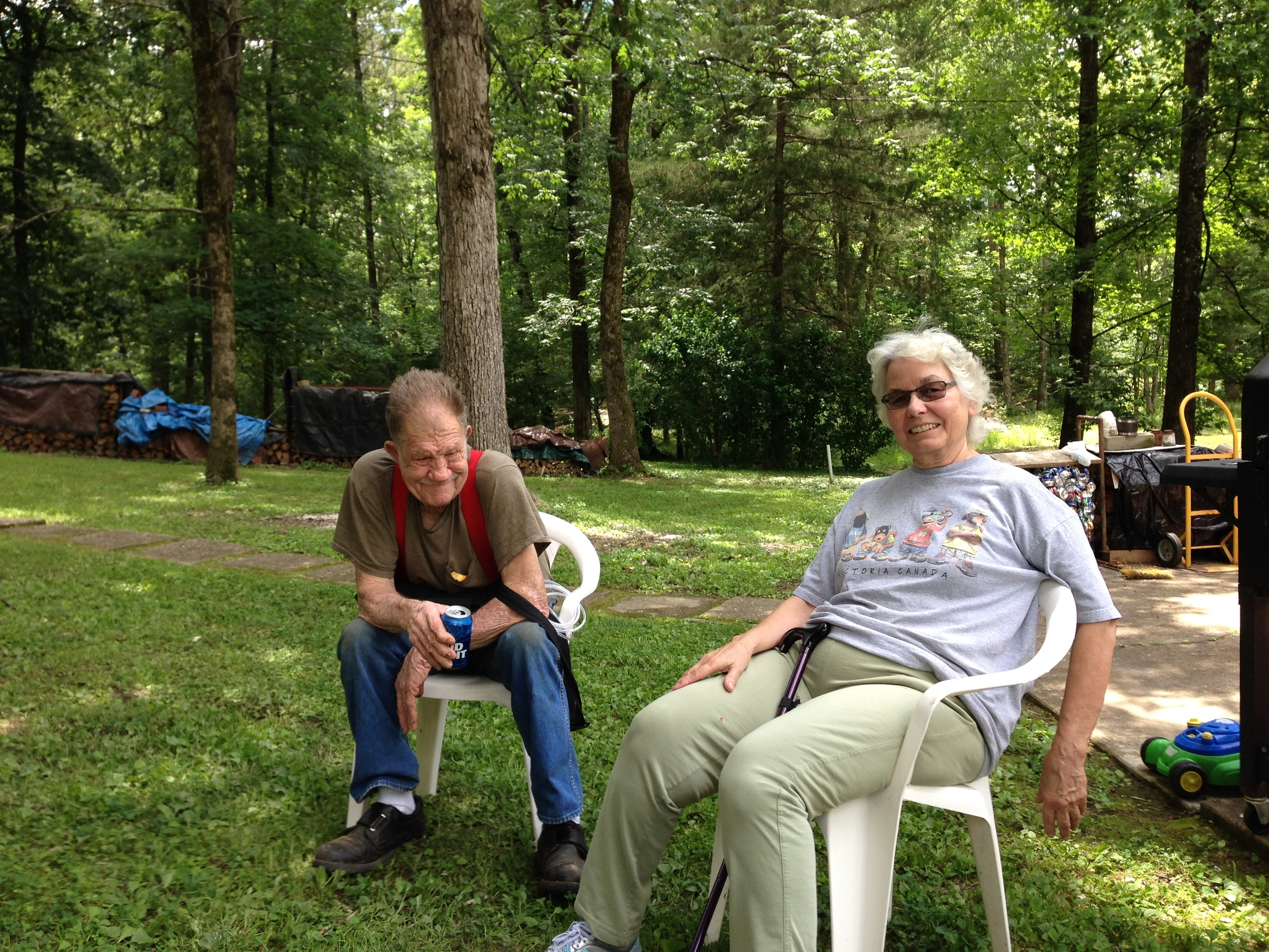 Uncle Chuck and Aunt Millie.(Chuck is my mom's brother.)