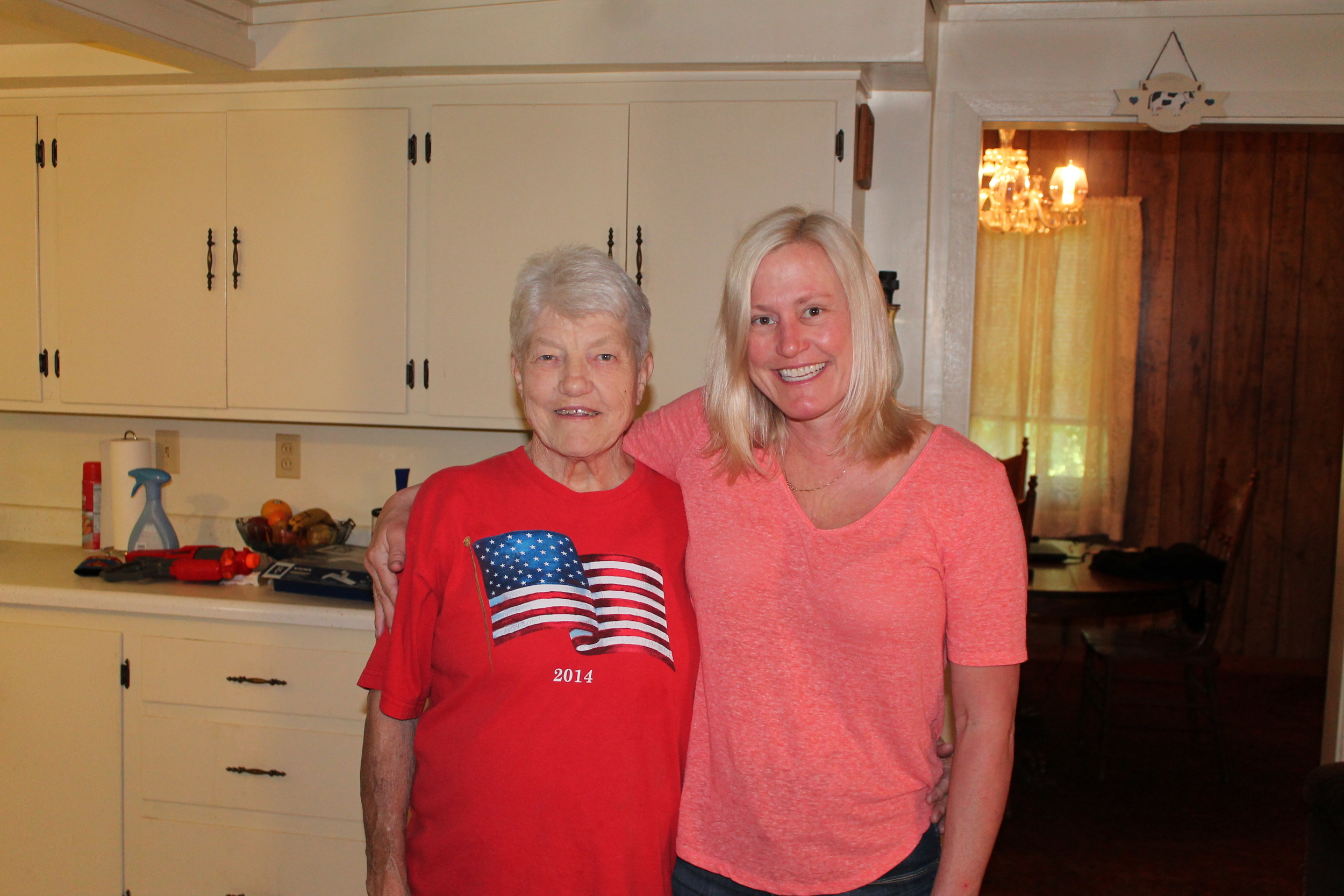 Aunt Linda and me. She's my mom's sister, and is a second mother to me.