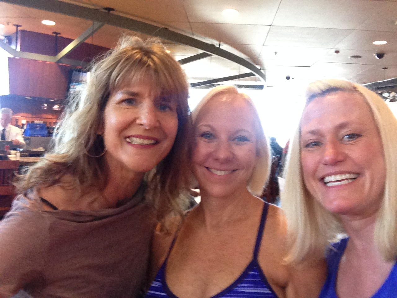 Look who found us at the airport! April, Jane, and Sandy together again!