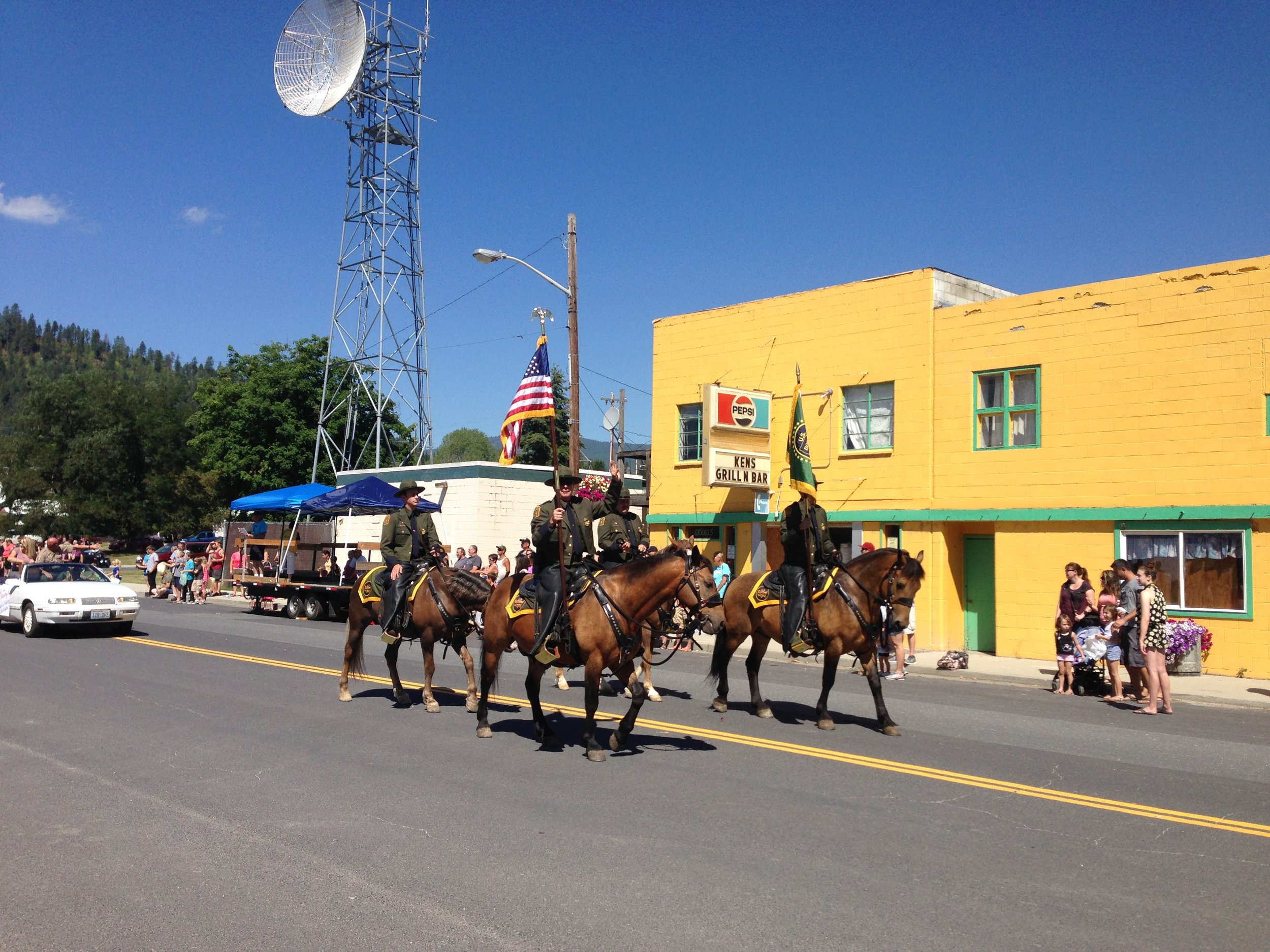 Our friend holding the flag in the parade, representing the border patrol.