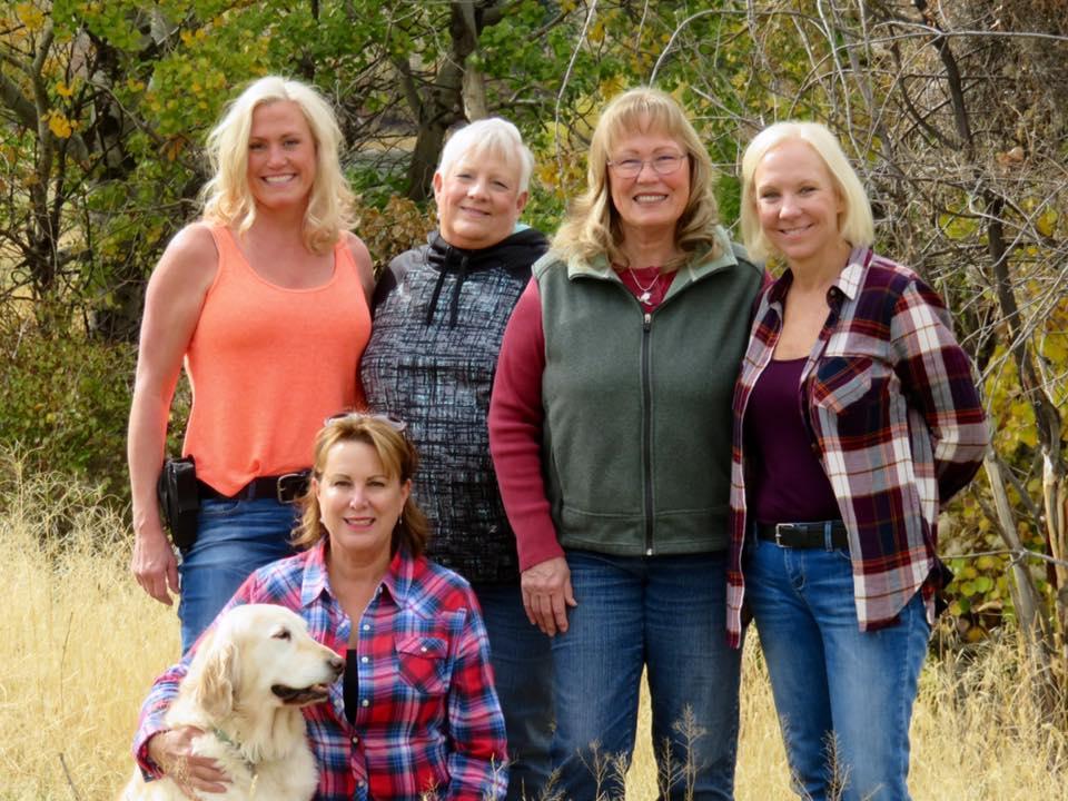 Me, Ann, Janet, Jane, Debi, and Bella.