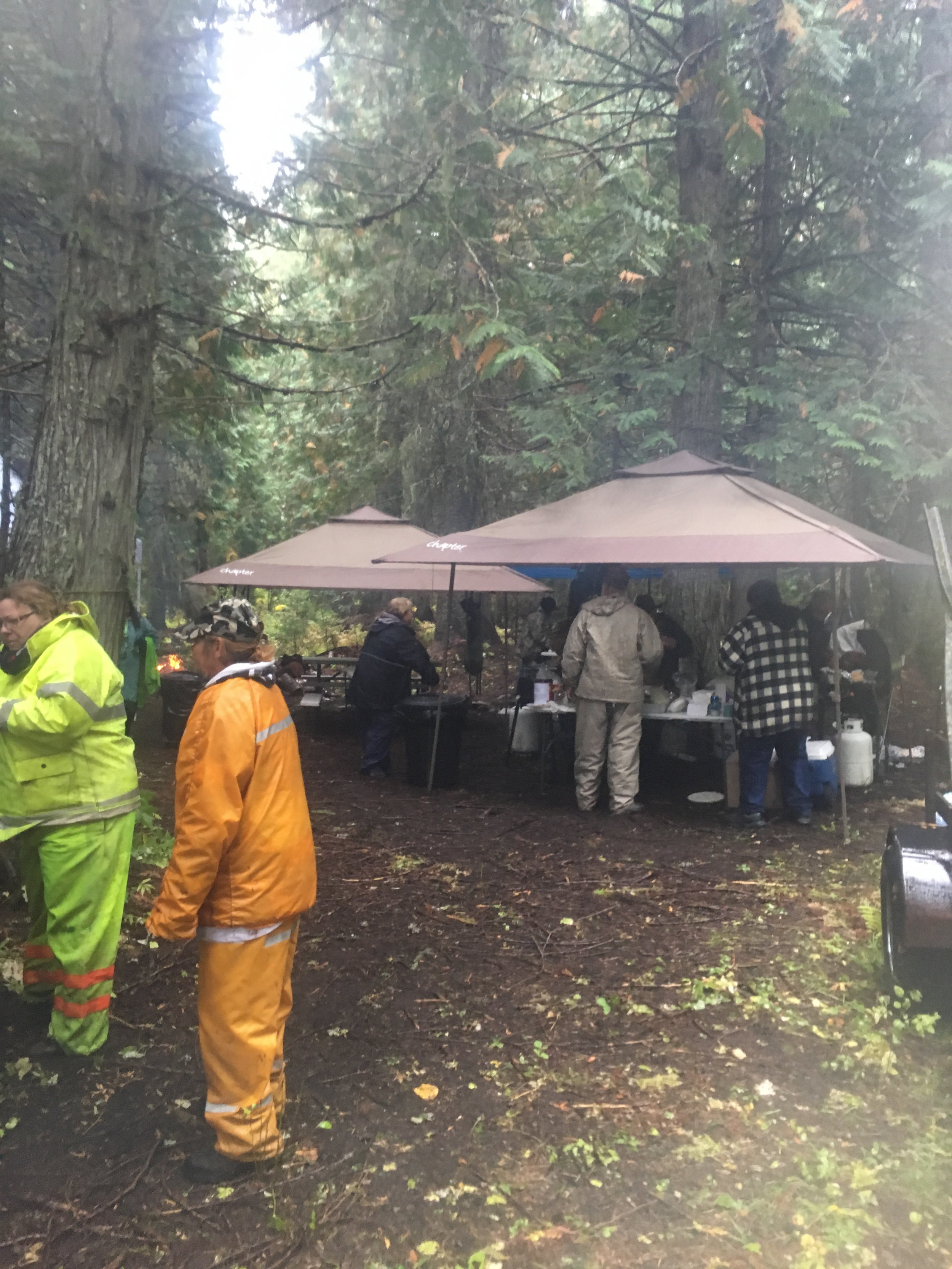 Lunch in the woods. The Selkirk Trail Blazers, Dirty Divas.