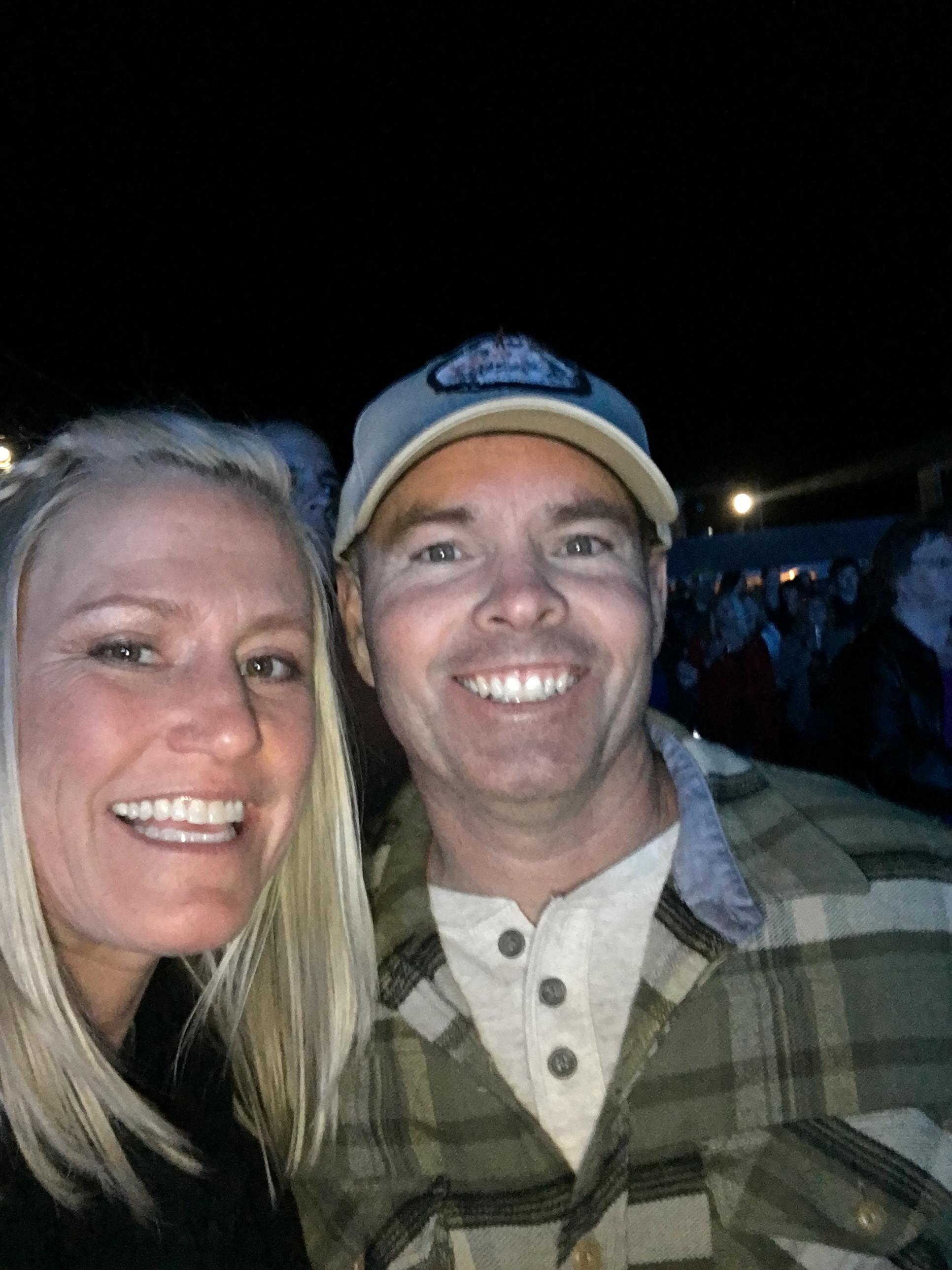 Enjoying the Dierks Bentley concert.