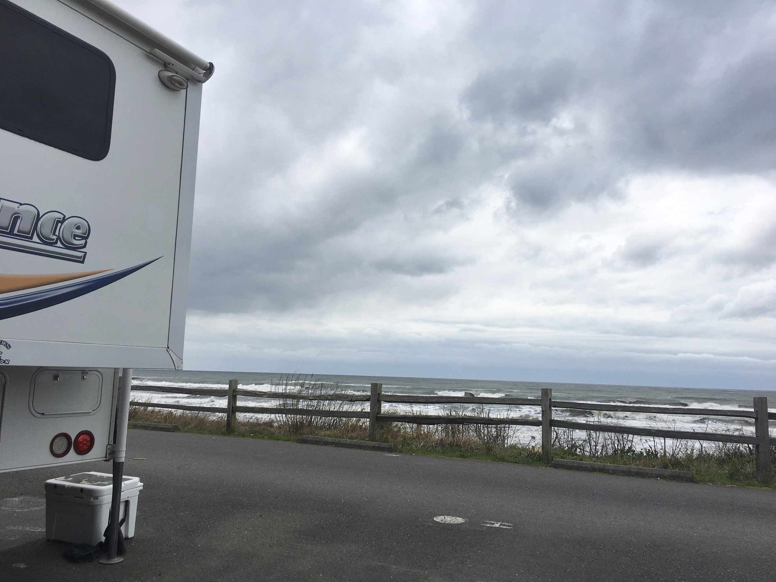 We finally made it to the Pacific Ocean. Kalaloch Campground in The Olympia National Forest.