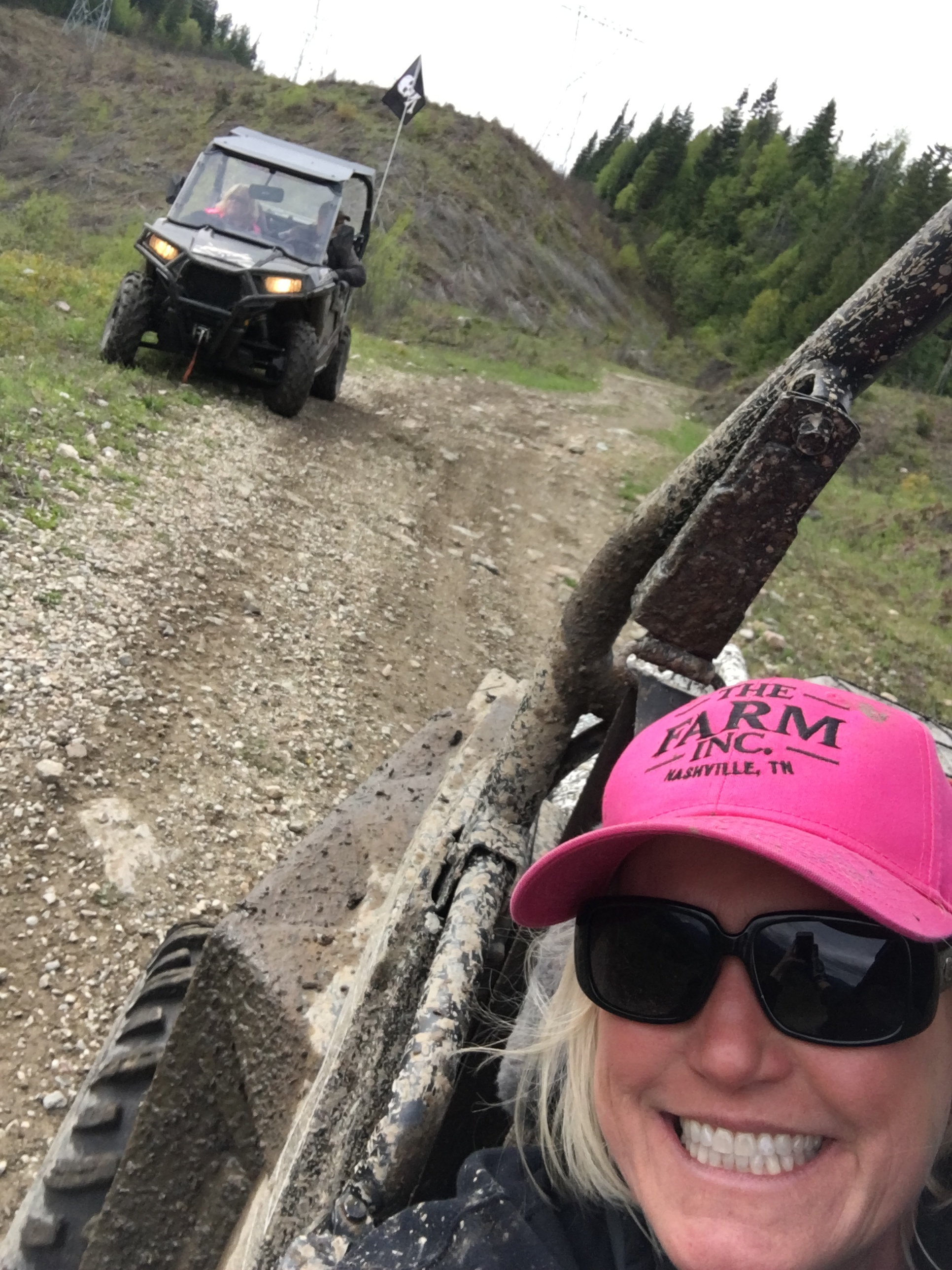 We went on an annual off road ride with the Trail Blazers. Our friends, Lance and Stacey are behind us.