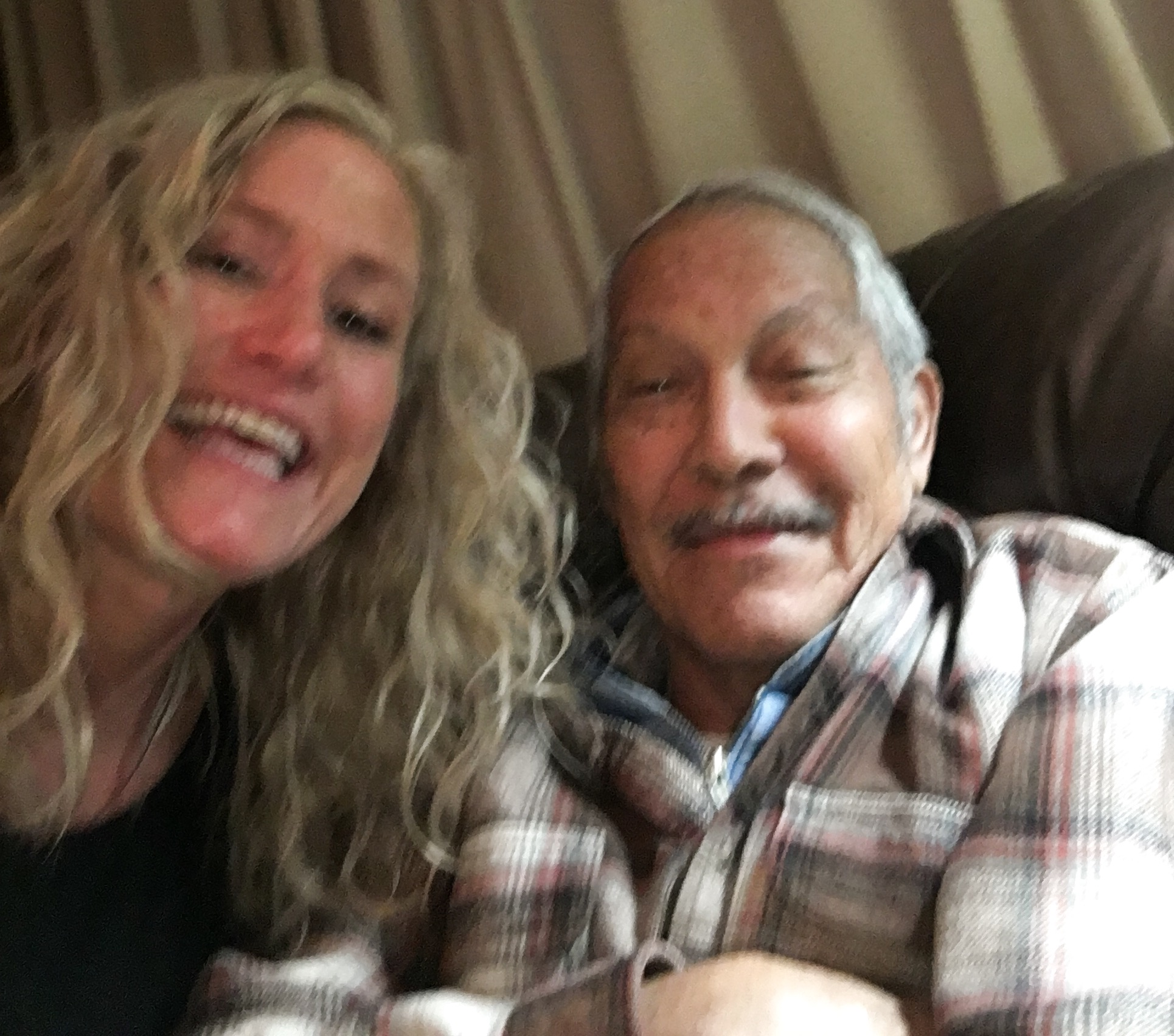 Frank's first selfie at 81 years old. Taken last November on my moms birthday.