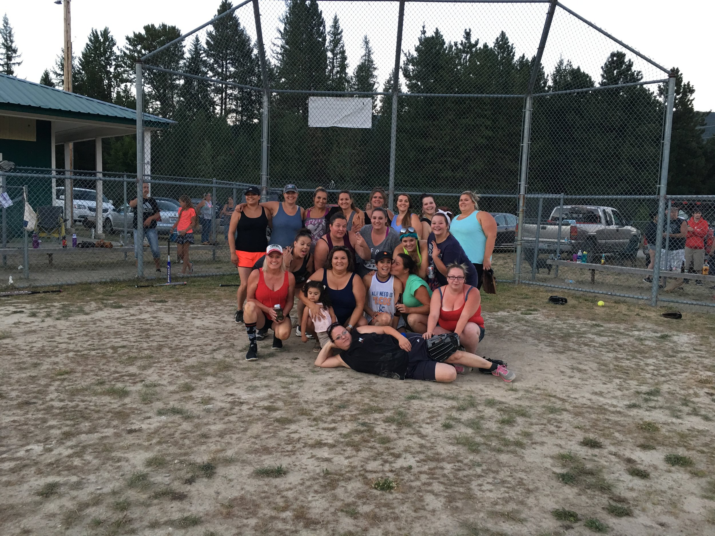 Crazy lady softball at Down River Days. I definitely need to practice before next years game! If you made it to second base, you had to do a shot before taking third. These are my kind of ladies!
