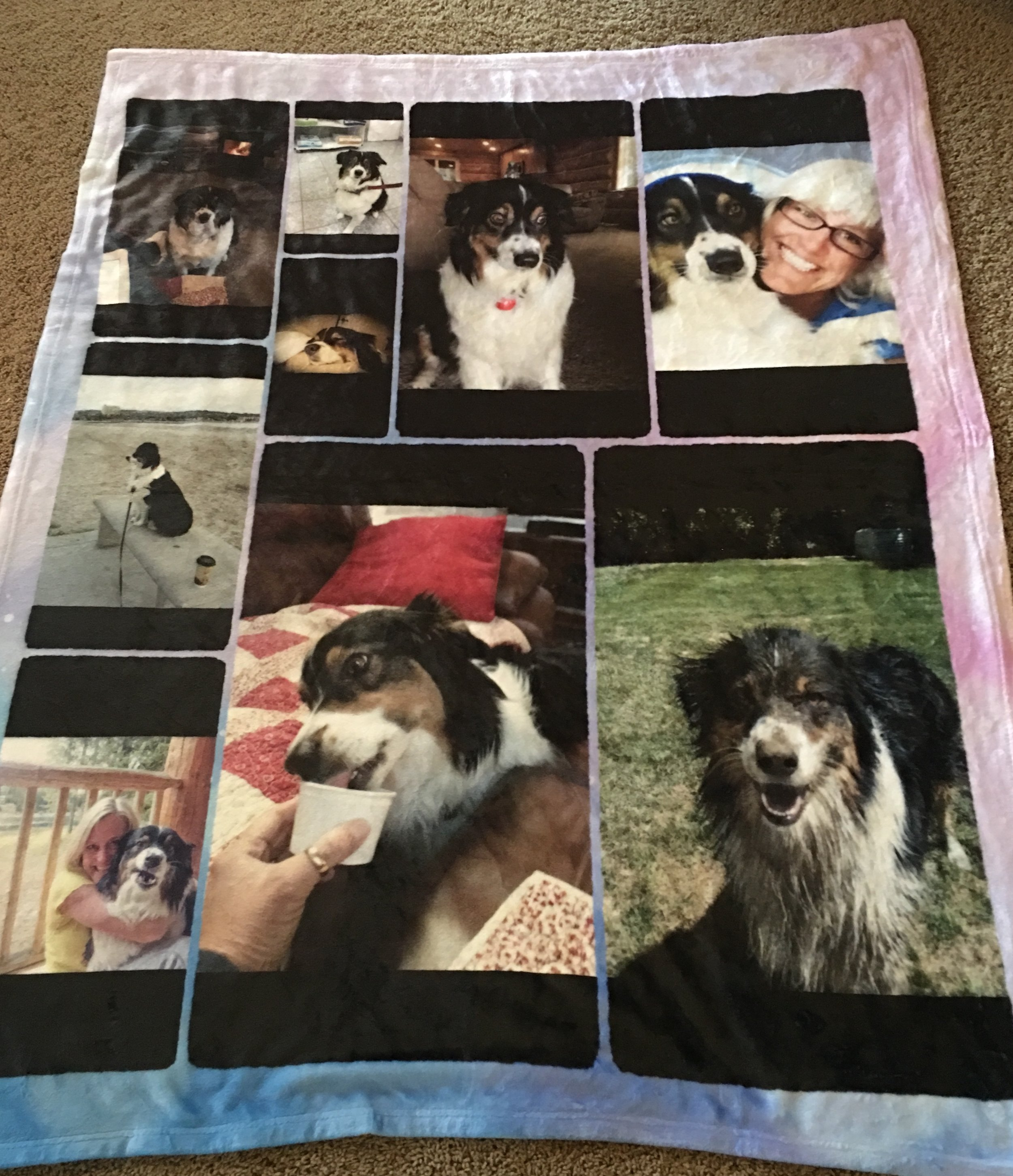 My friend, Kathy had this blanket made for me. Memories of happy times!