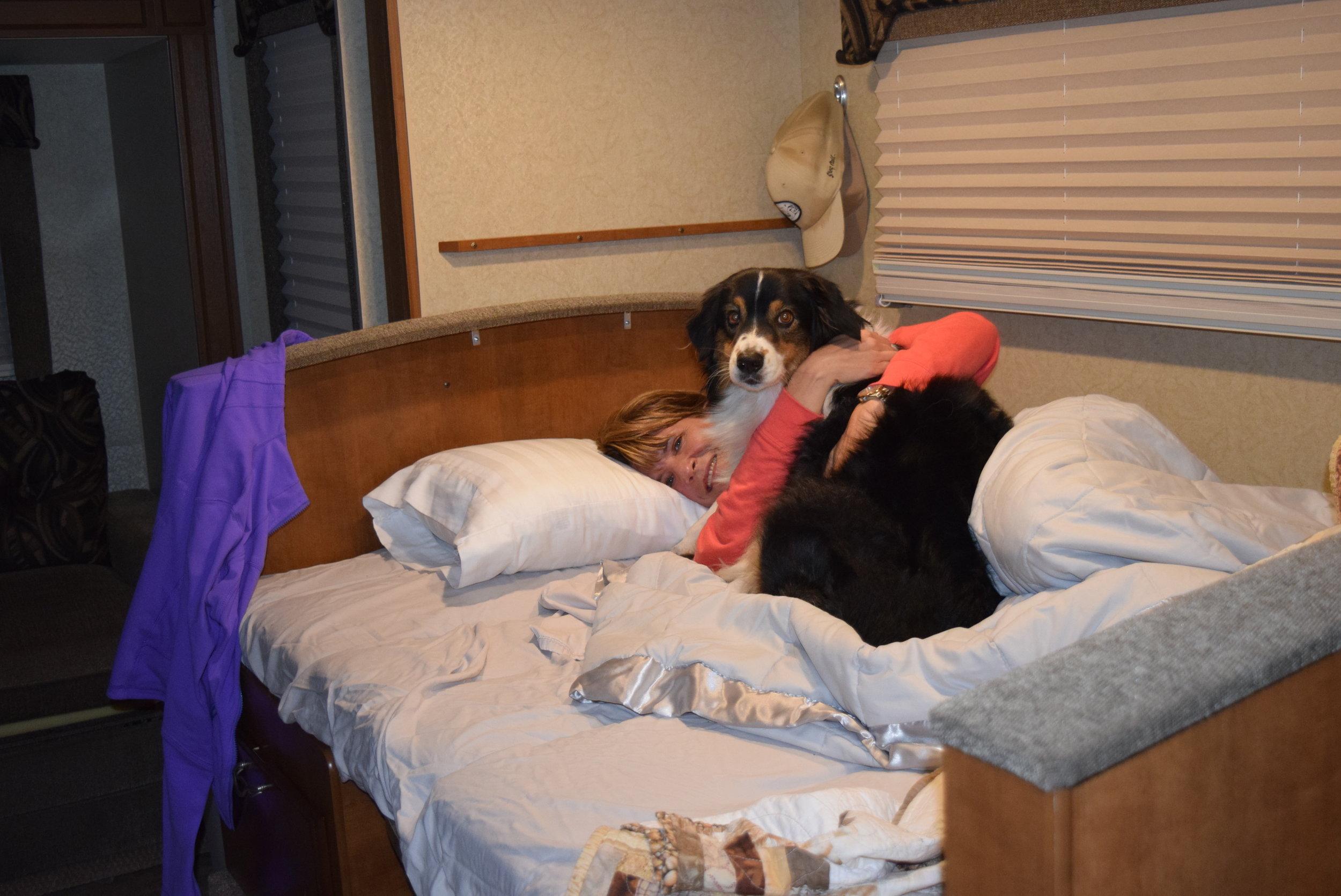 Fiona always got to sleep with Auntie April!
