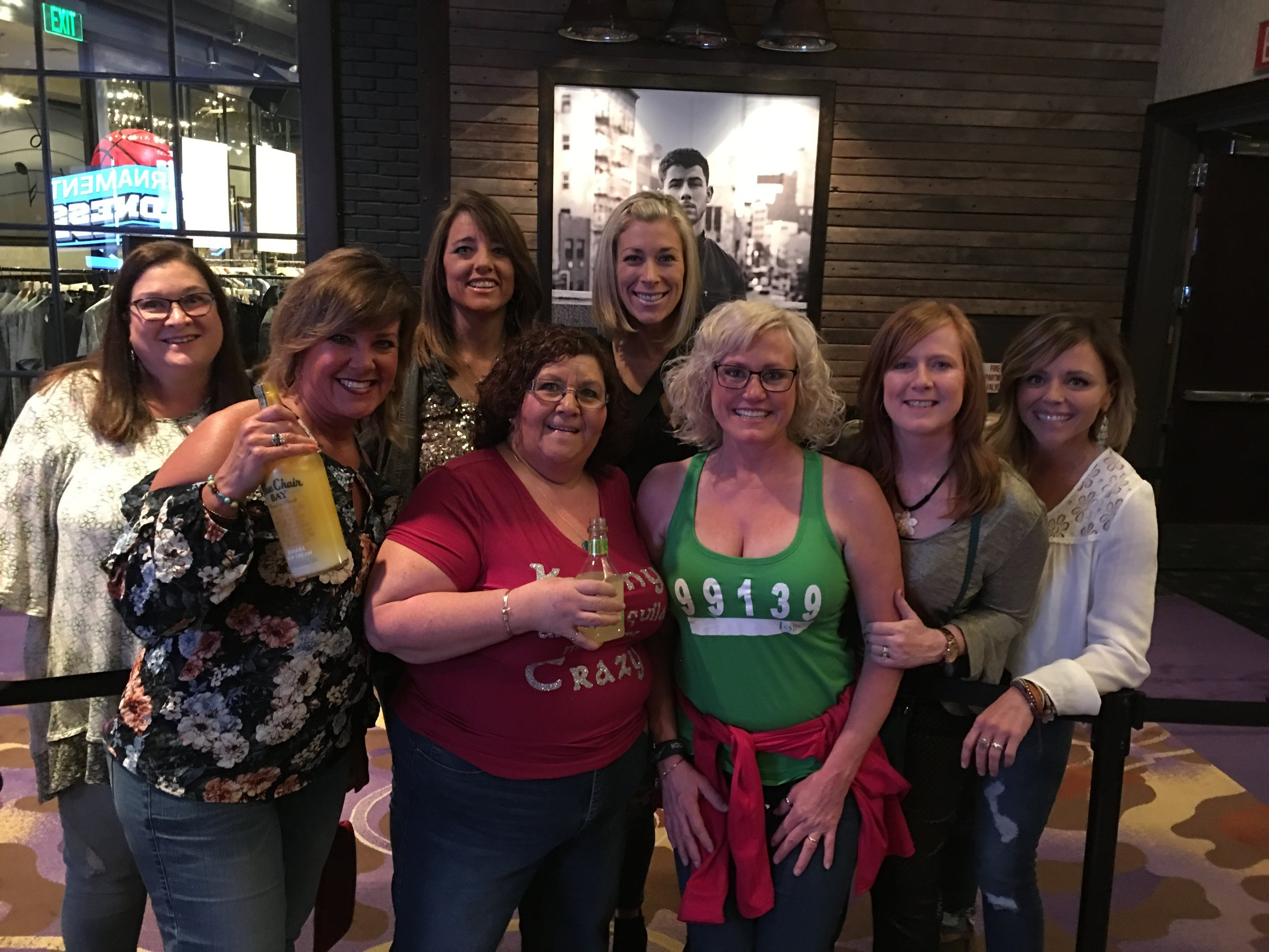 I had friends from all over the country come to Vegas to see Kenny. I'm not the only crazy Kenny fan! Just a little piece of No Shoes Nation.