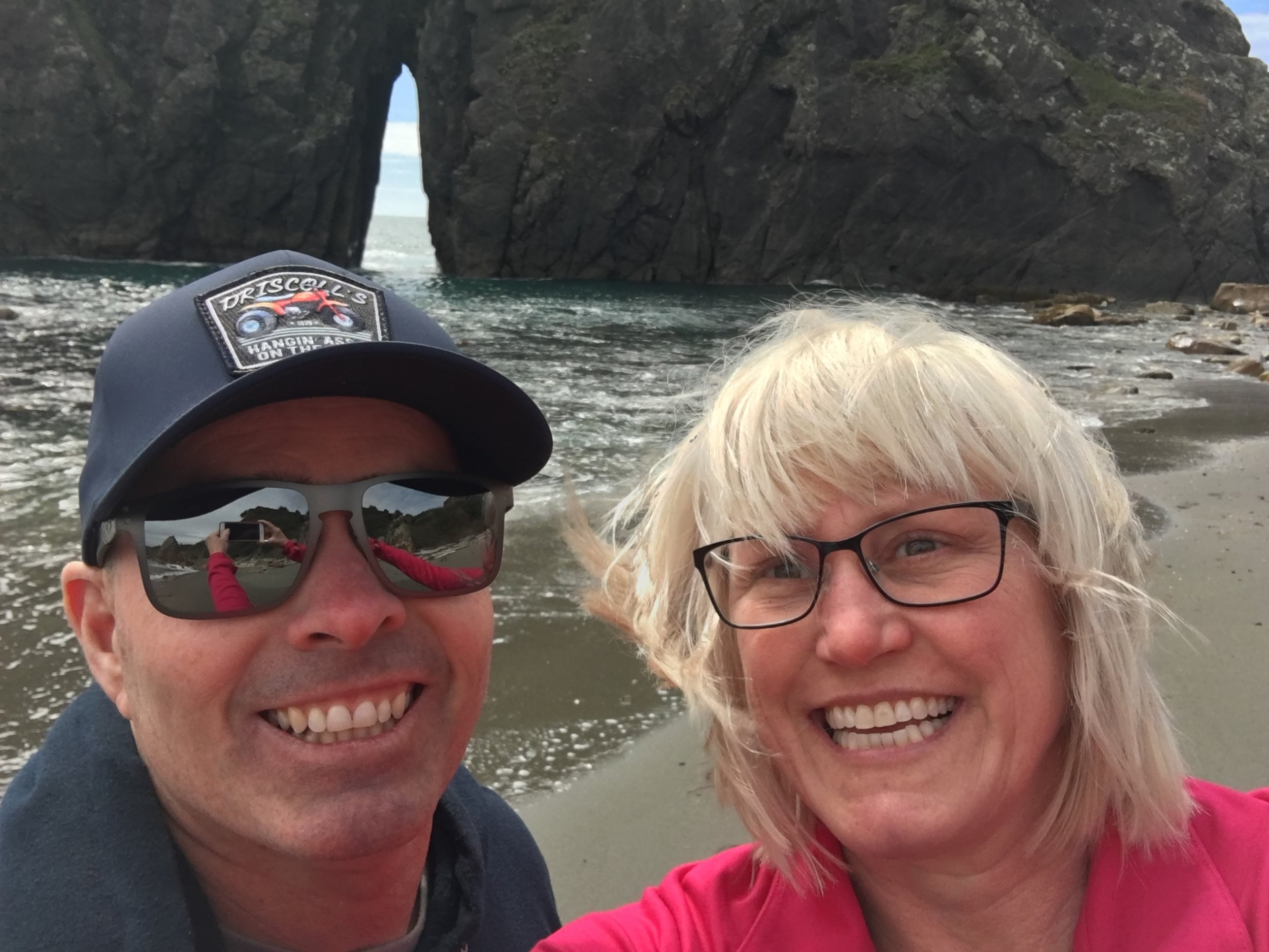 Gotta do an ocean selfie! Brookings, OR.