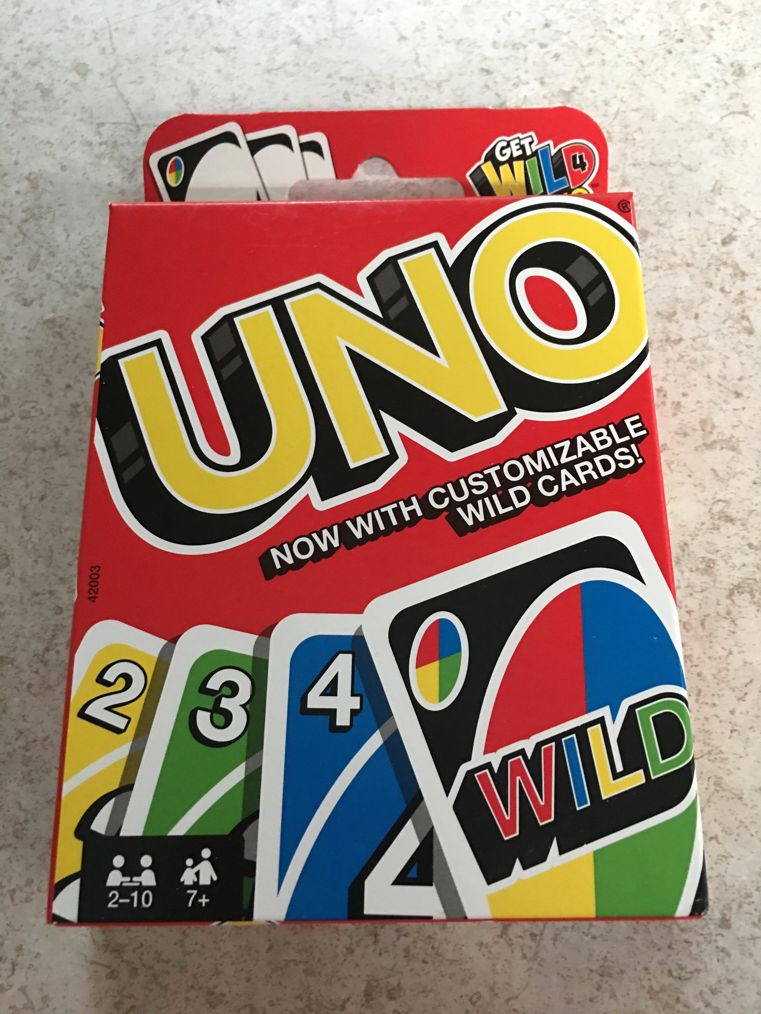 While shopping, I spotted the Uno logo that Dustin designed. He's done a lot of great designs but for some reason, him doing the Uno logo is my favorite! We played this game a lot while he was growing up!