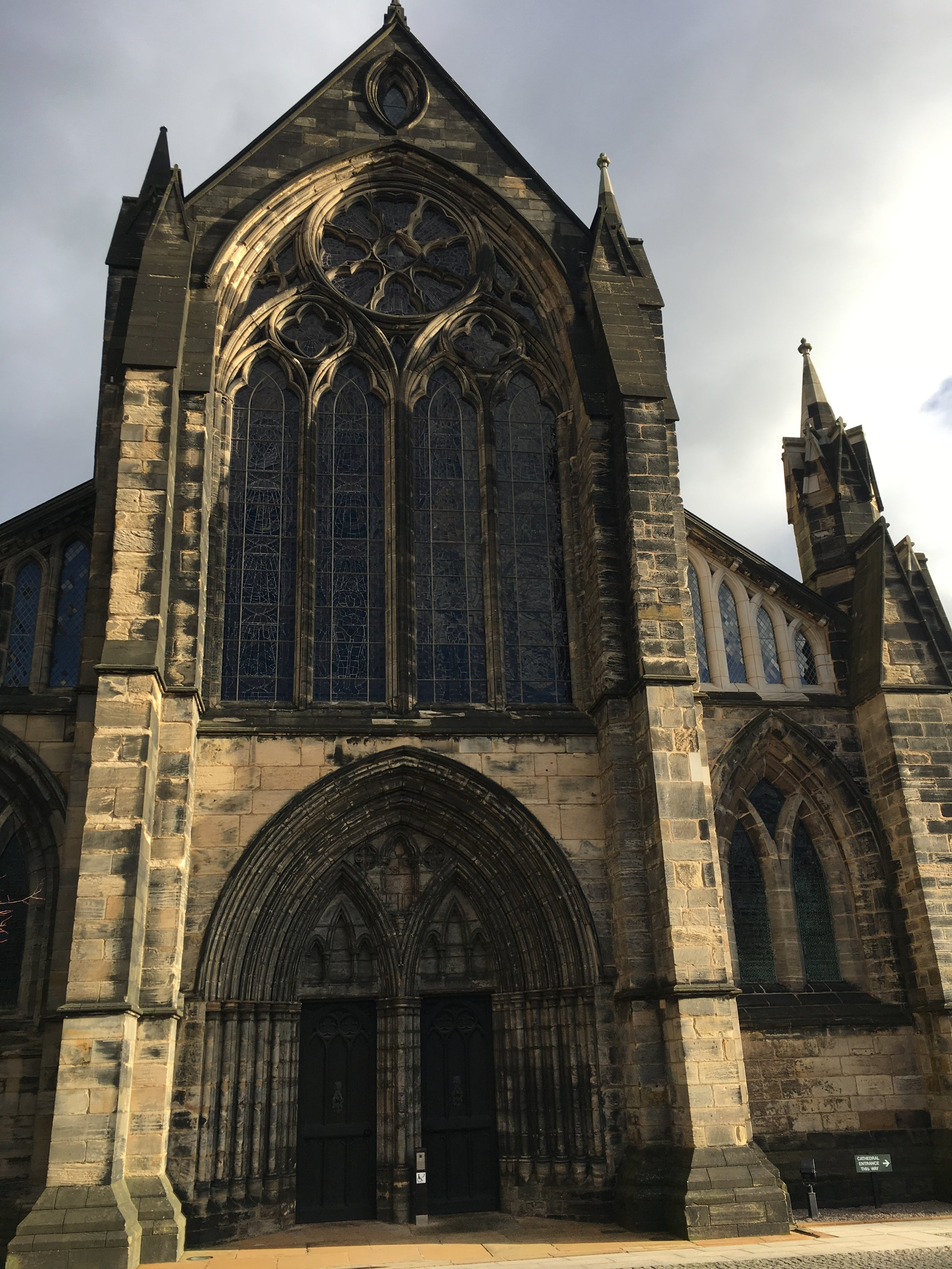 The Glasgow Cathedral. Free entry and knowledgeable friendly staff on hand to explain things. We got lucky and got a private tour just after church services. Stunning!