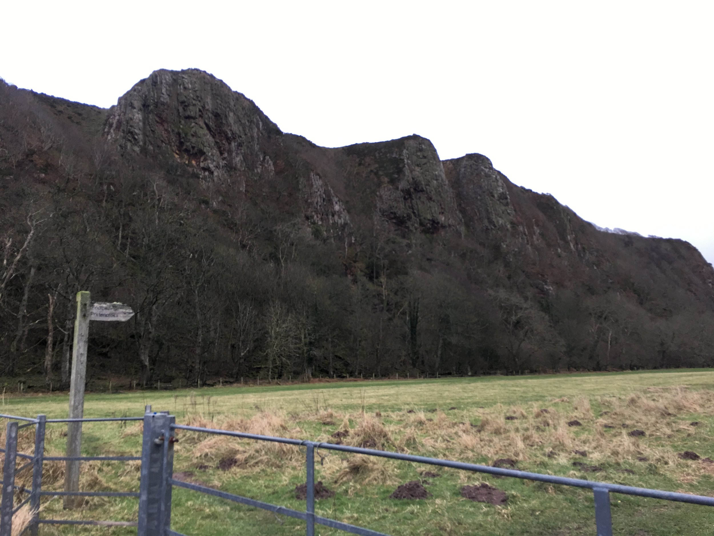 Three Sisters. Near West Kilbride. Left to right, Penny, Steph, and Sandy. Where their husbands jumped from the cliffs!!! (That last part was added by Paul)