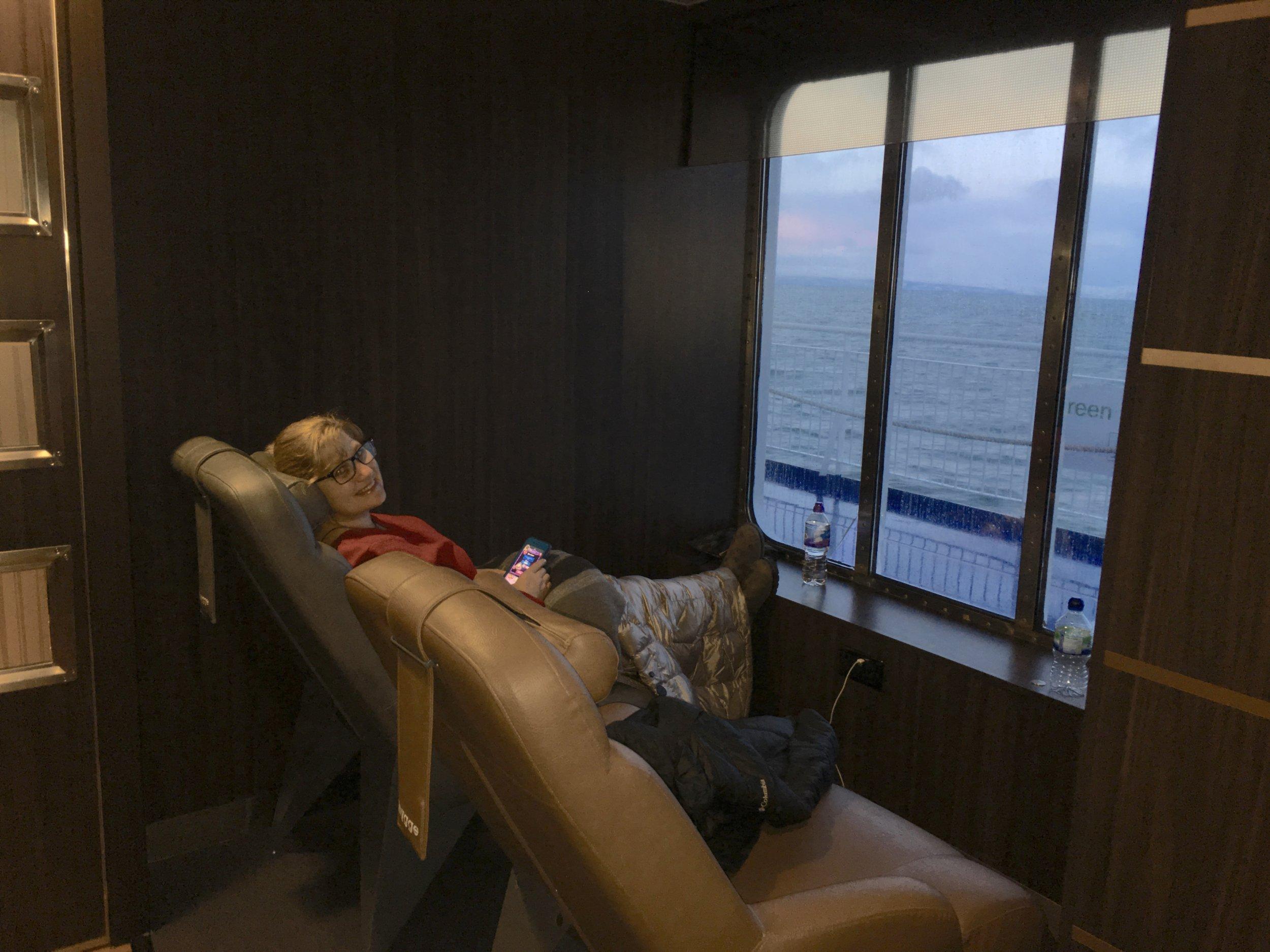 No better way to ferry across the Irish Sea! Cherilyn, AKA Trucker Joe.