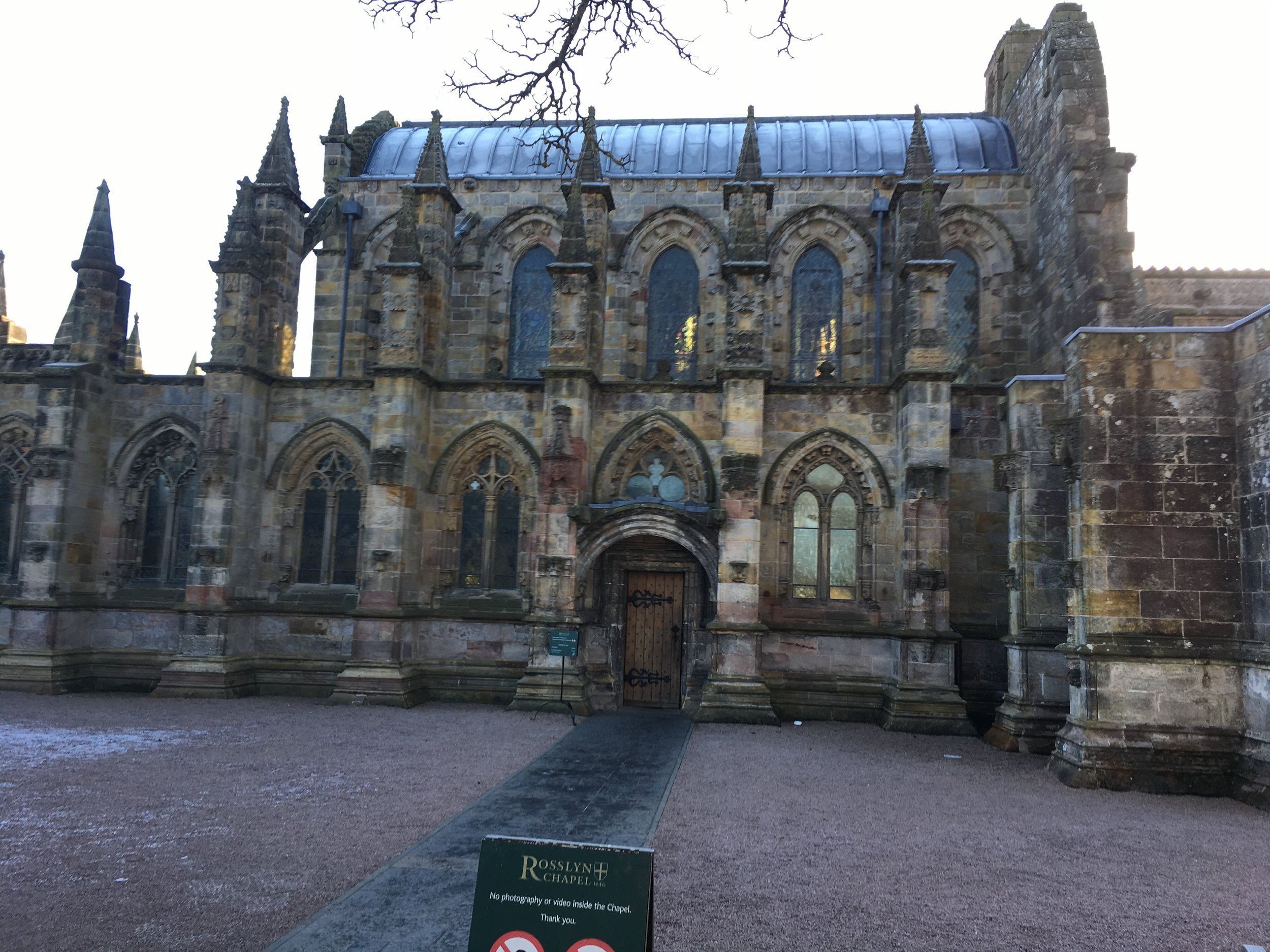 Roslyn Chapel, south of Edinburg.