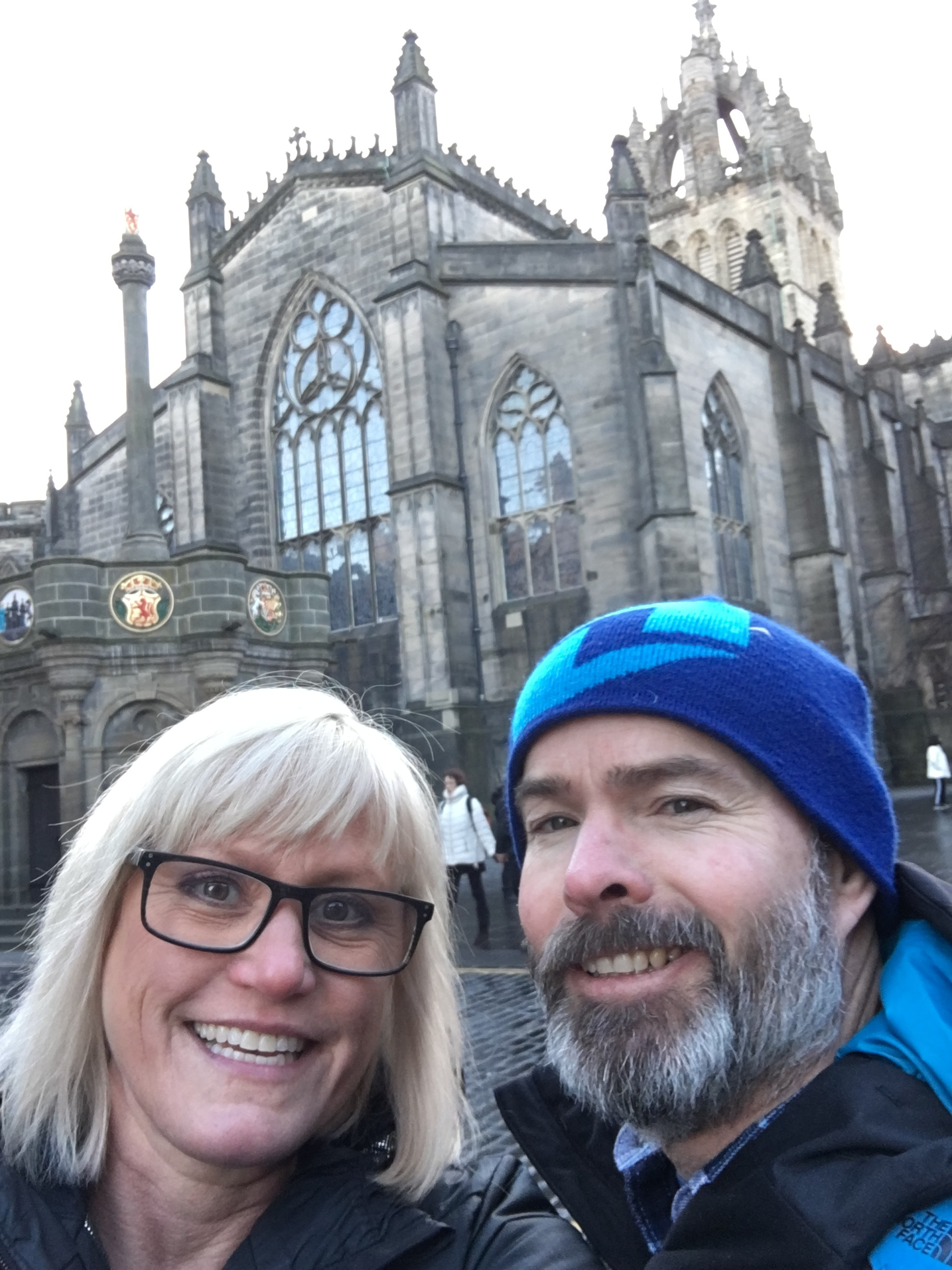 In front of the Edinburgh Castle.