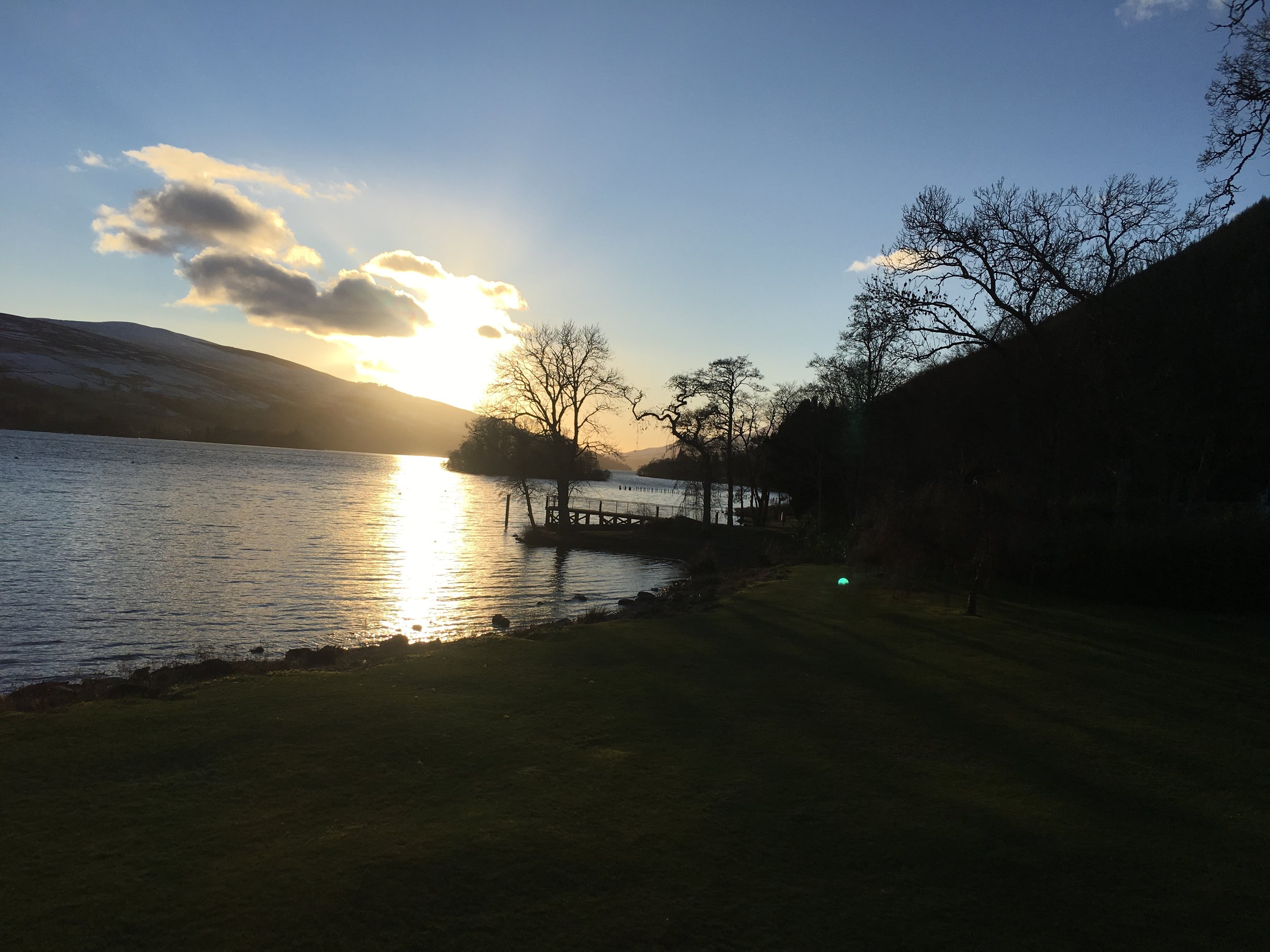 A beautiful view of Loch Tay from the McBride's second timeshare.