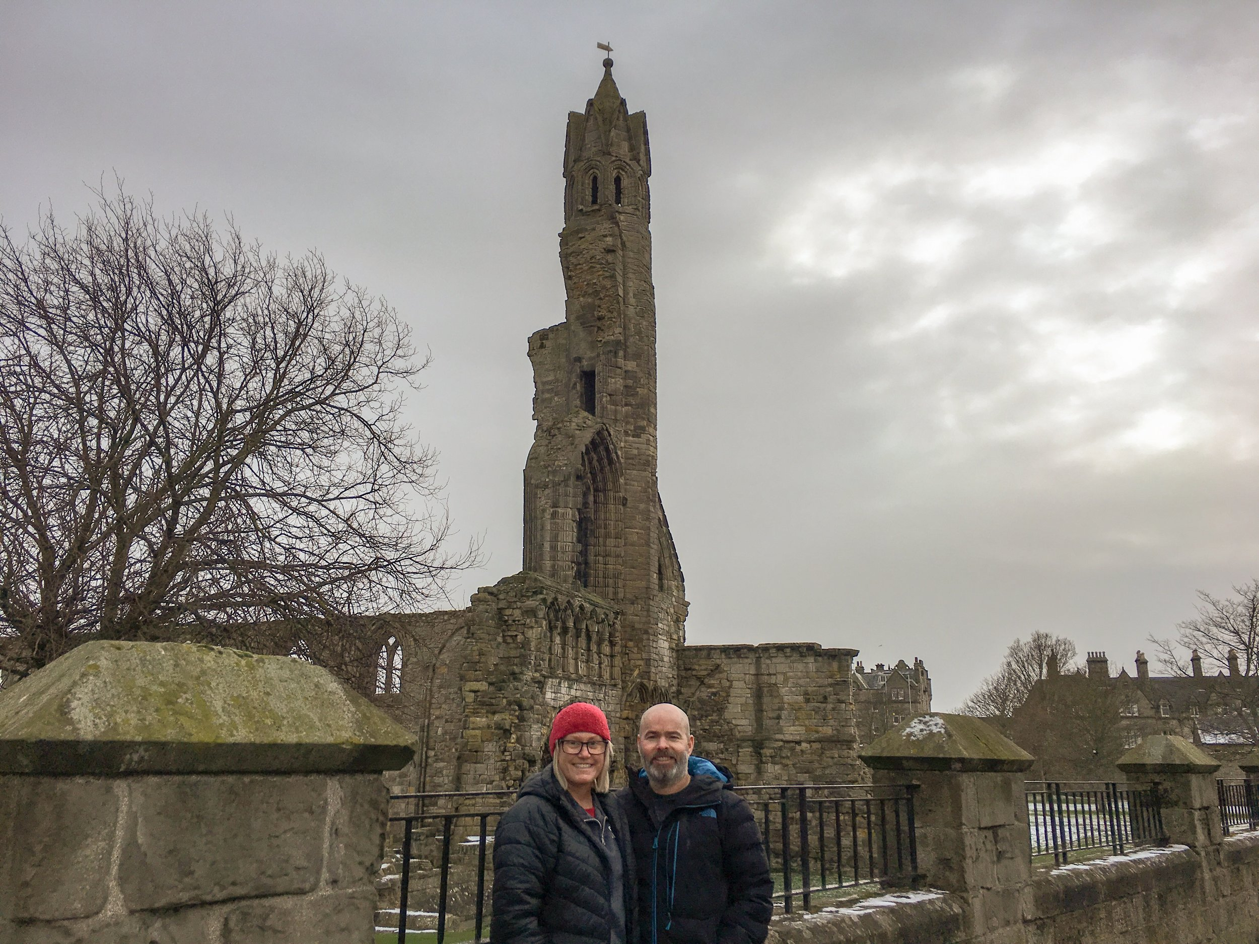At St Andrews Cathedral. It was closed because of ice.