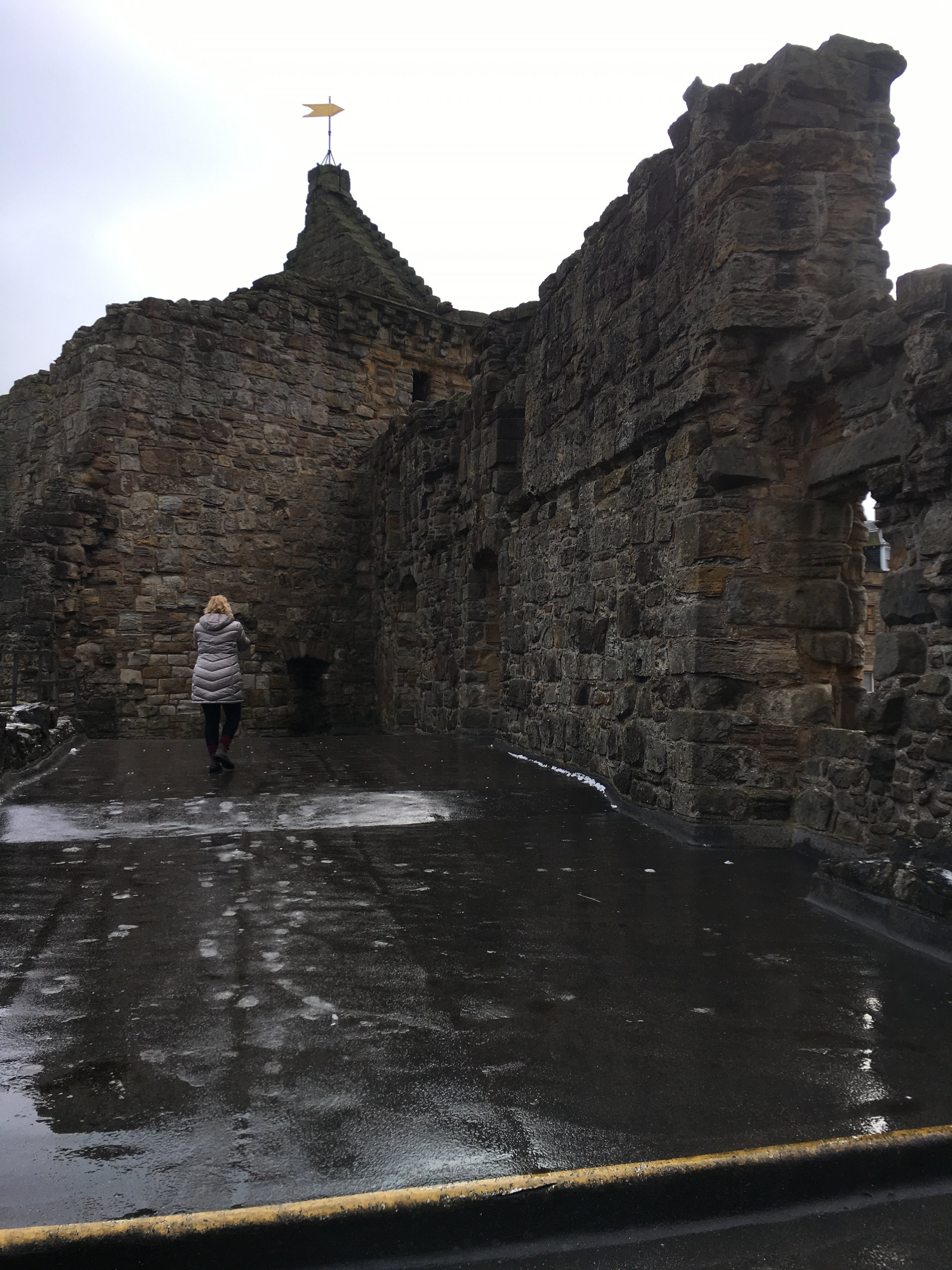 We did get to go into St. Andrews Castle.