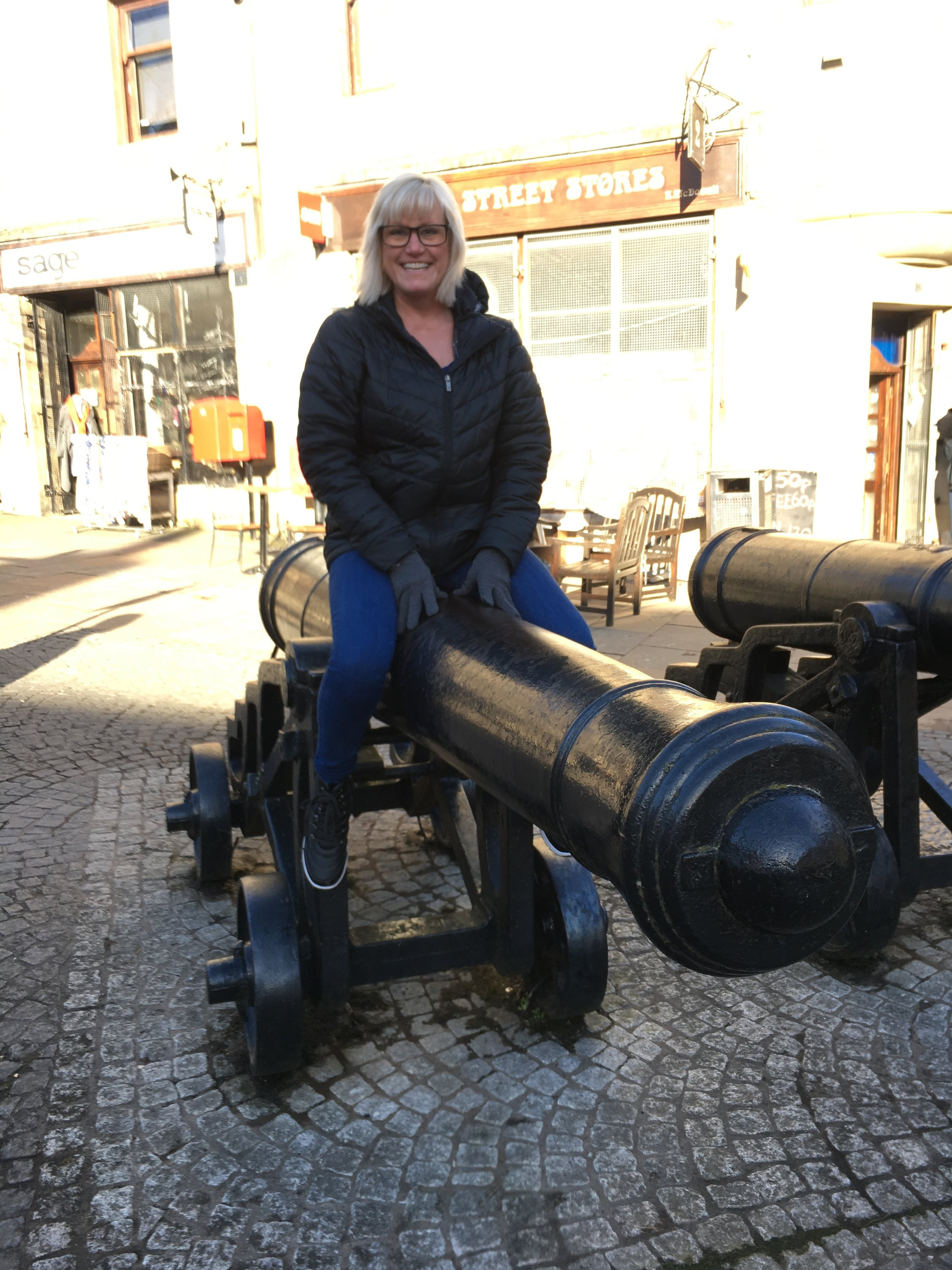 Cannon sitting has become a tradition for me. This is in Stirling.