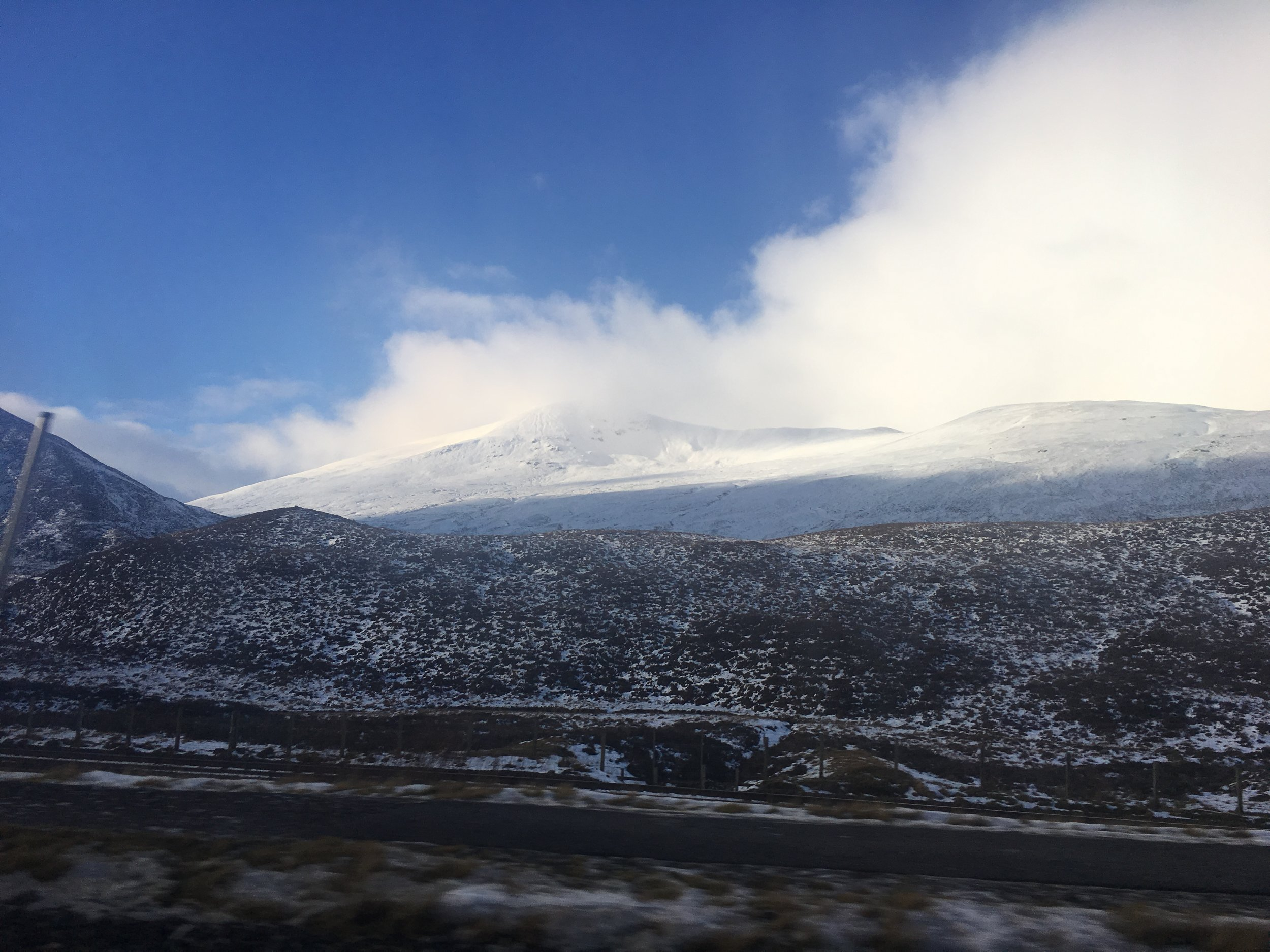 Driving North through the highlands.