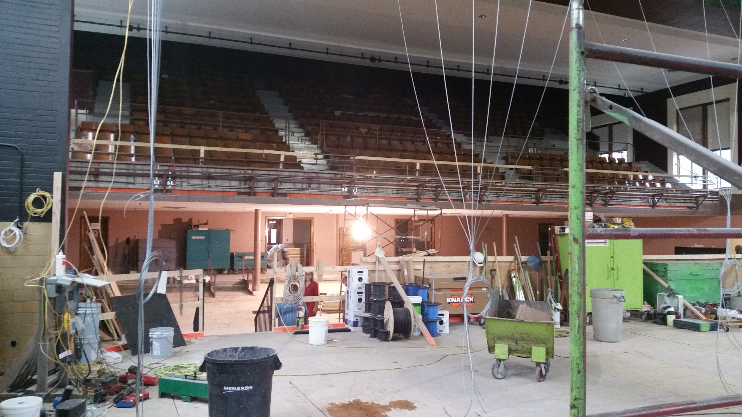 The theater at Chatfield Center for the Arts mid-renovation.