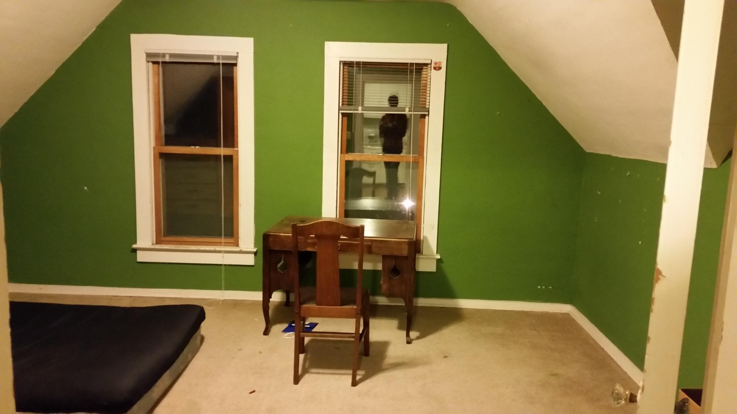 My empty bedroom in saint Peter
