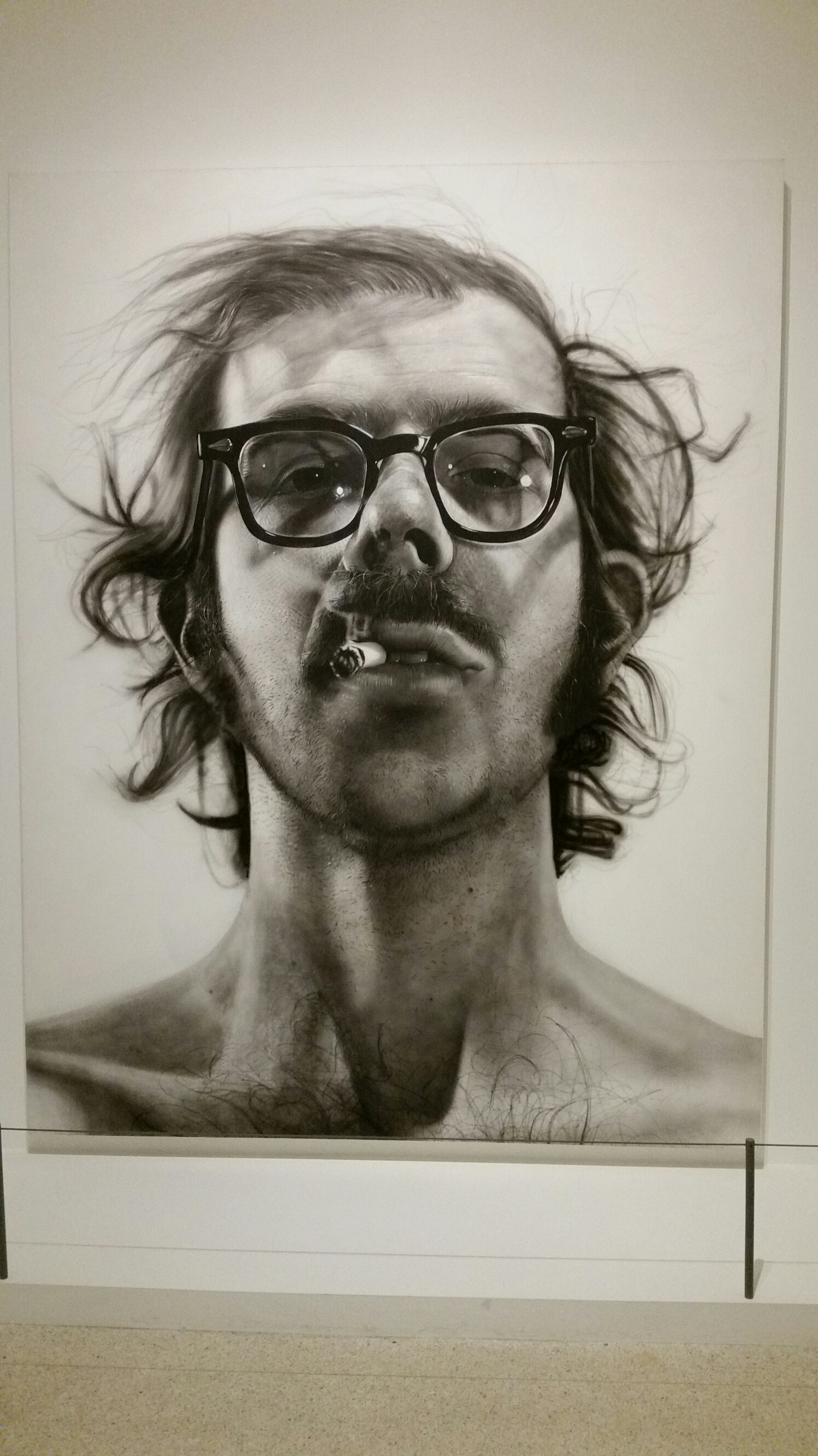 Never get tired of seeing Chuck Close at the Walker
